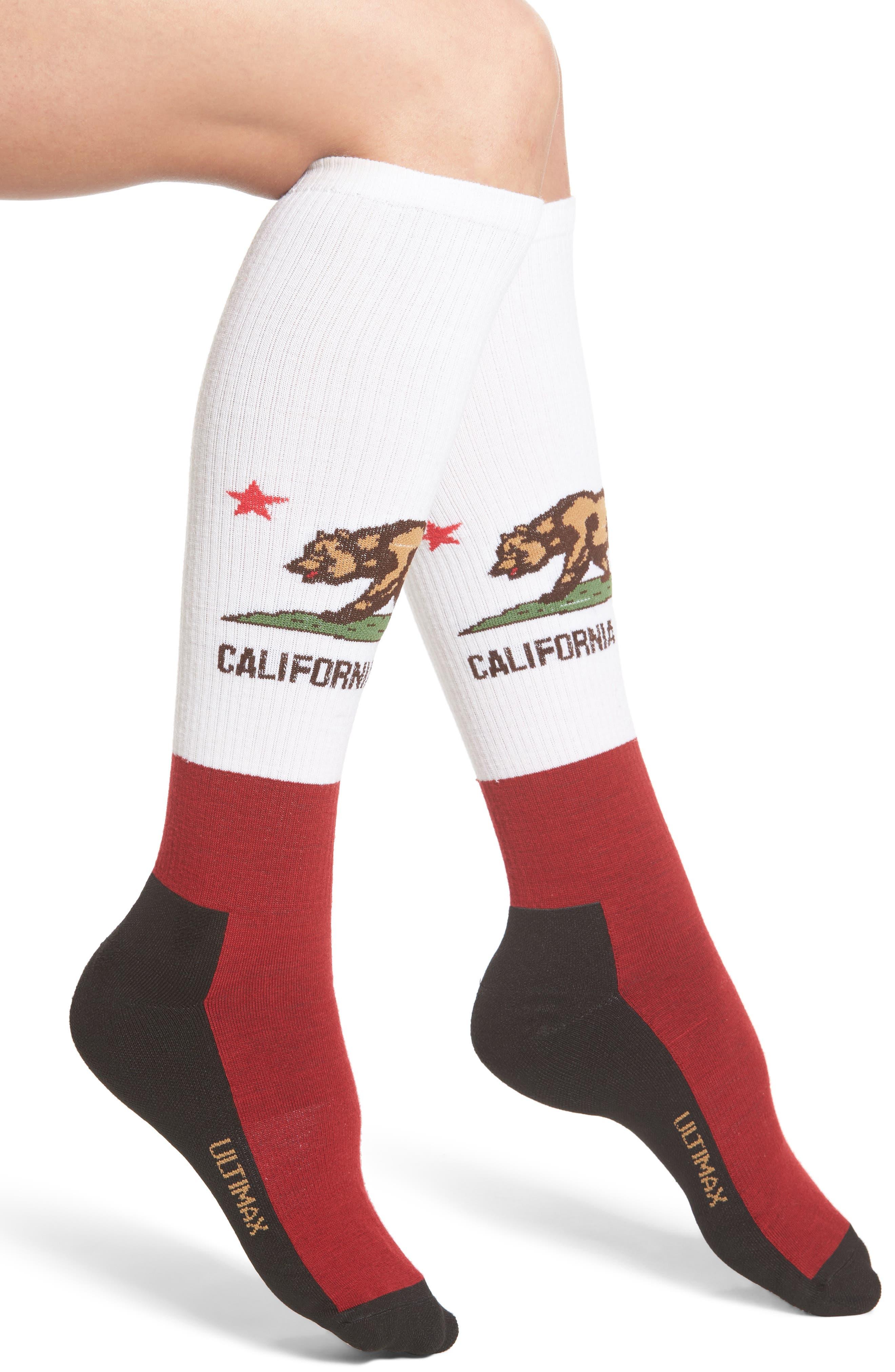 Republic Pro Crew Socks,                             Main thumbnail 1, color,                             White