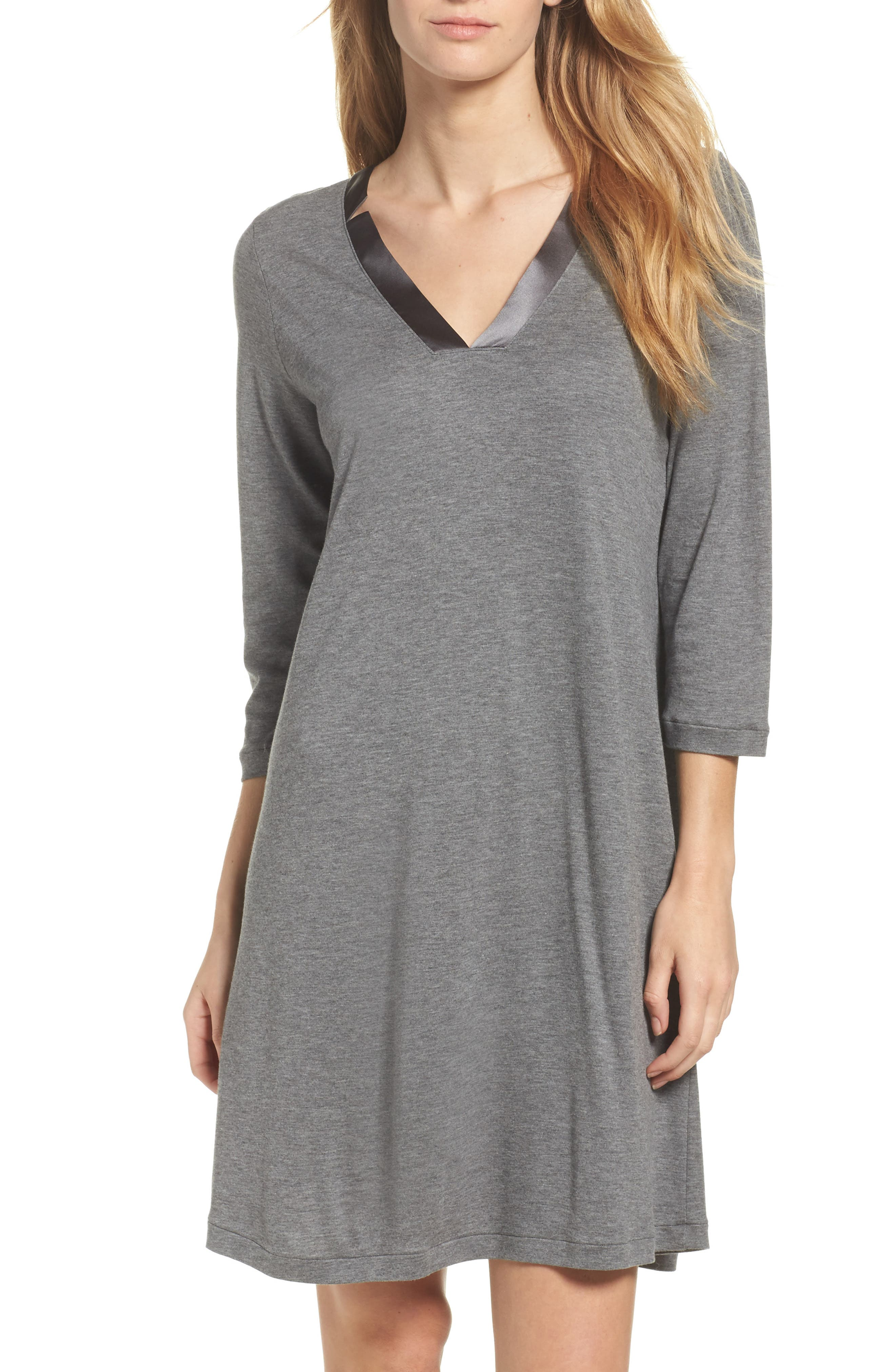 Ivy Nightgown,                         Main,                         color, Stone Melange