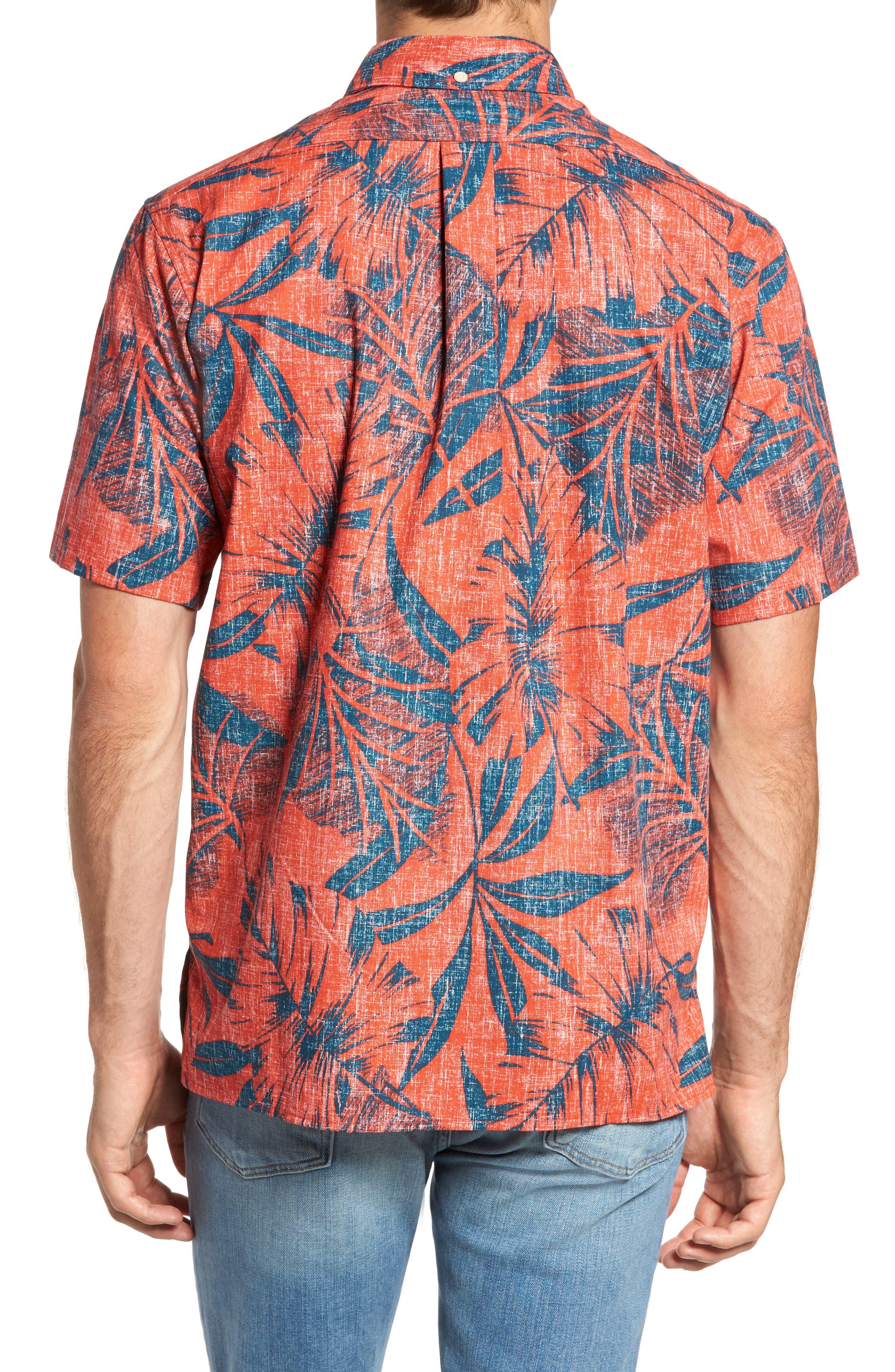 Kaha Lau Classic Fit Sport Shirt,                             Alternate thumbnail 2, color,                             Coral