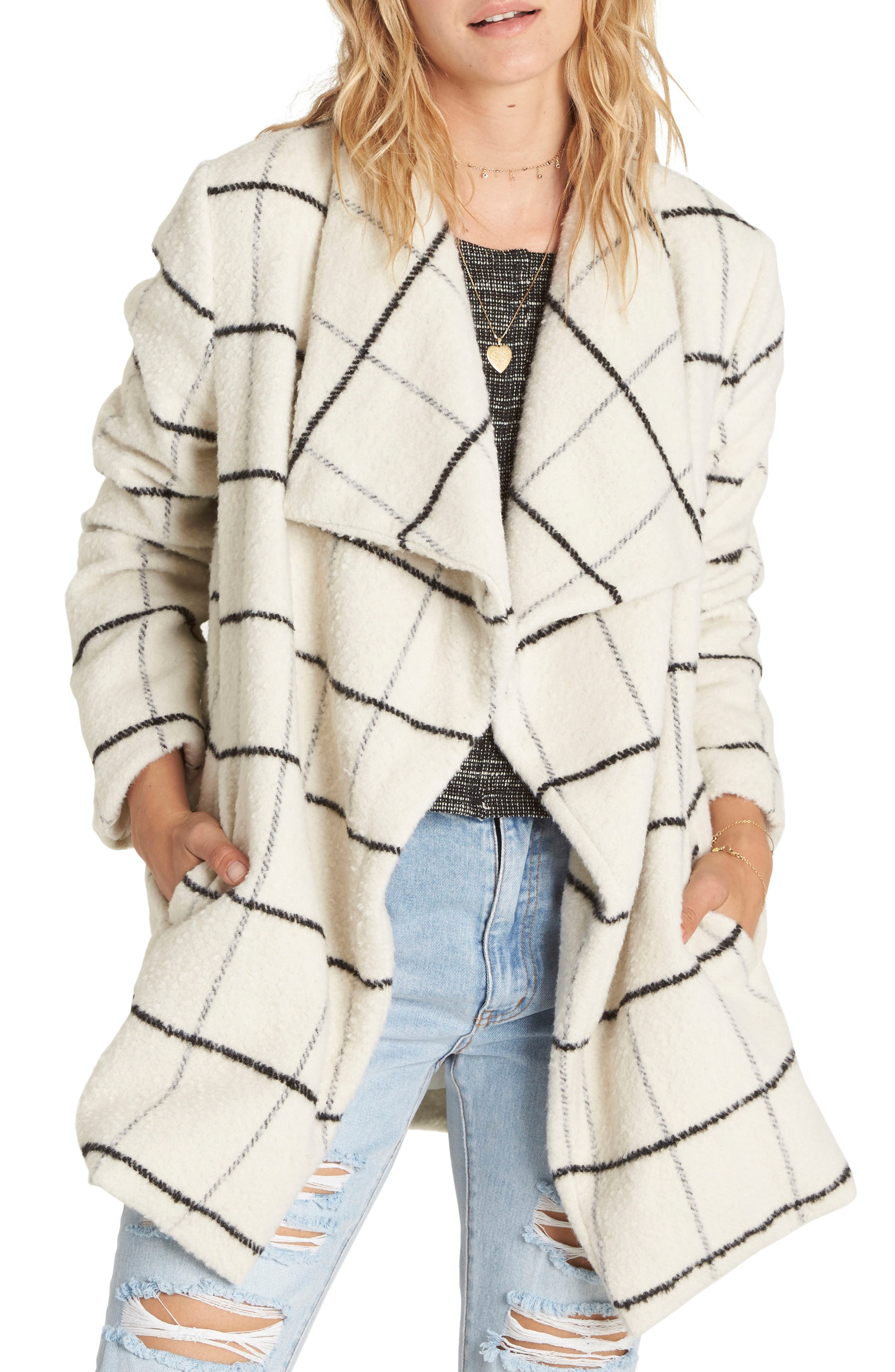 Billabong Evermore Plaid Coat