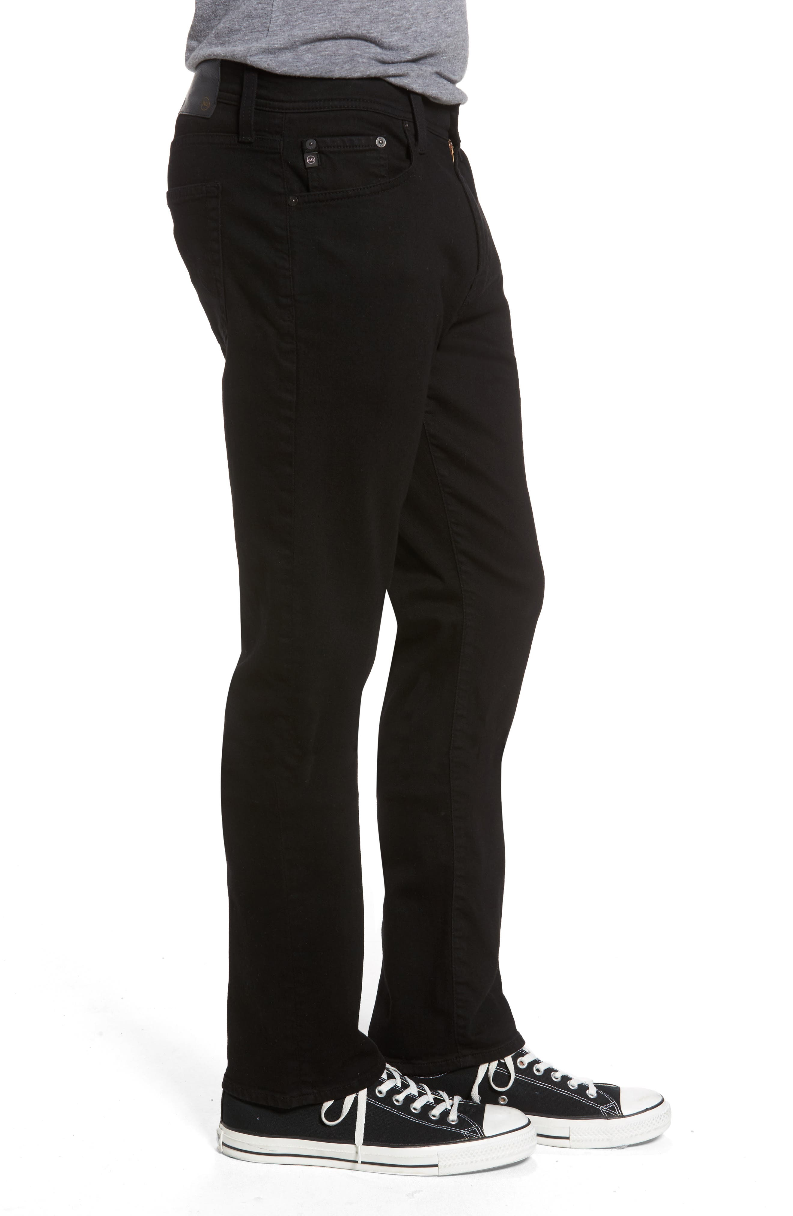 Everett Slim Straight Fit Jeans,                             Alternate thumbnail 3, color,                             Black Soot