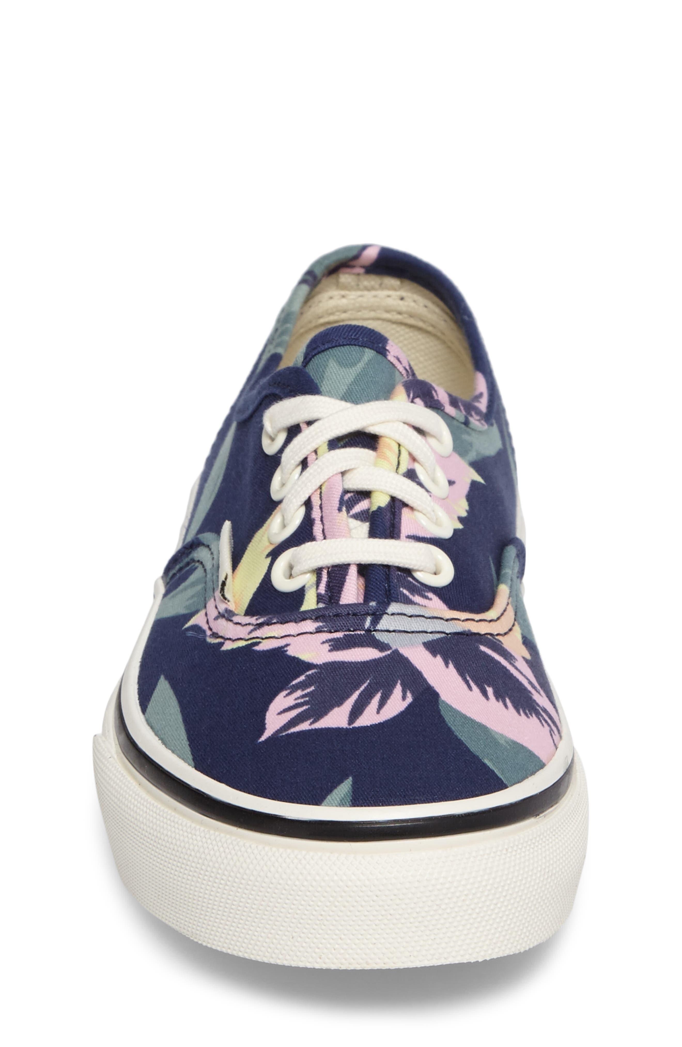 Alternate Image 4  - Vans Authentic Floral Print Sneaker (Toddler, Little Kid & Big Kid)