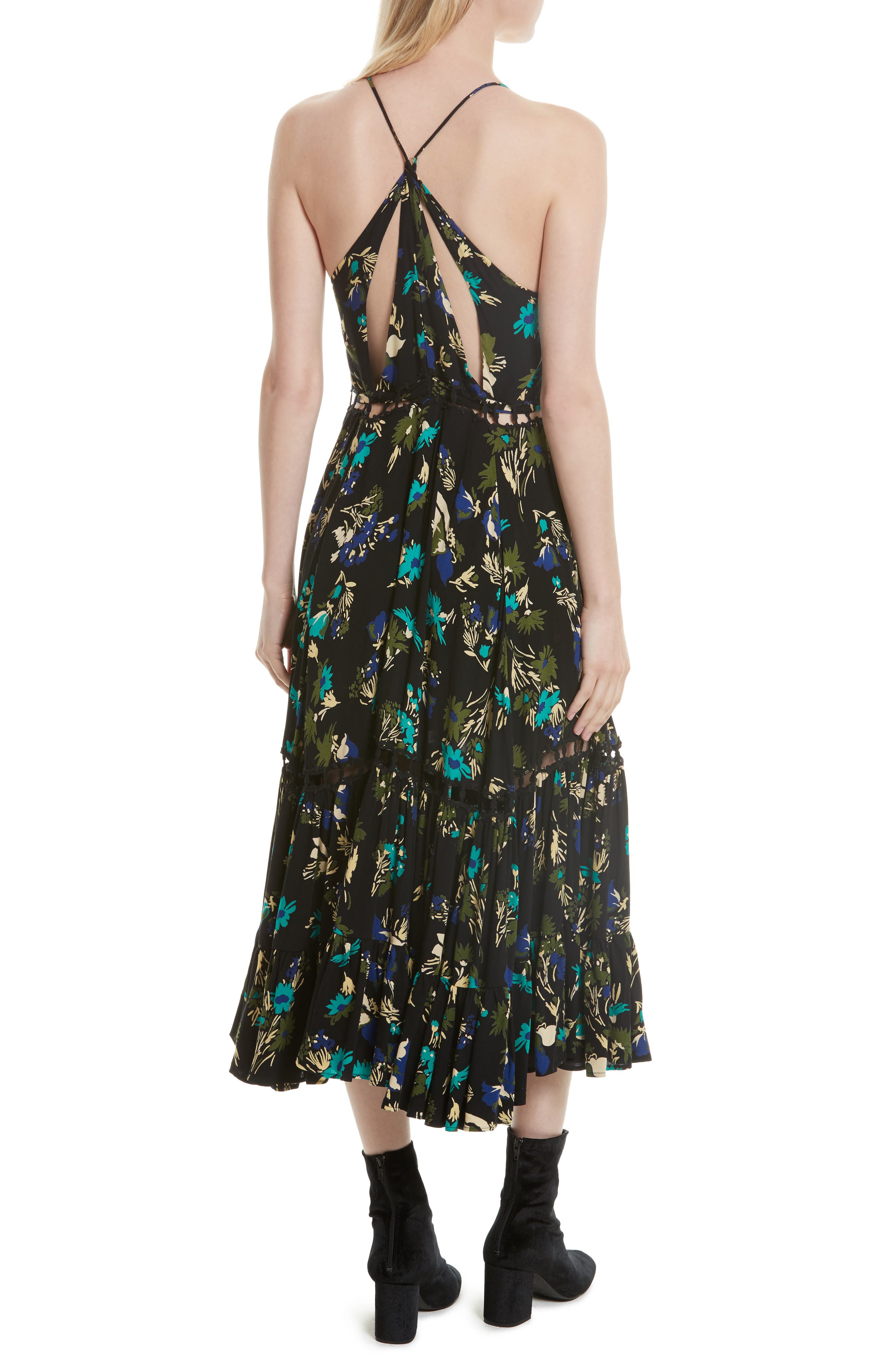 Pages of Gold Maxi Dress,                             Alternate thumbnail 2, color,                             Black Combo