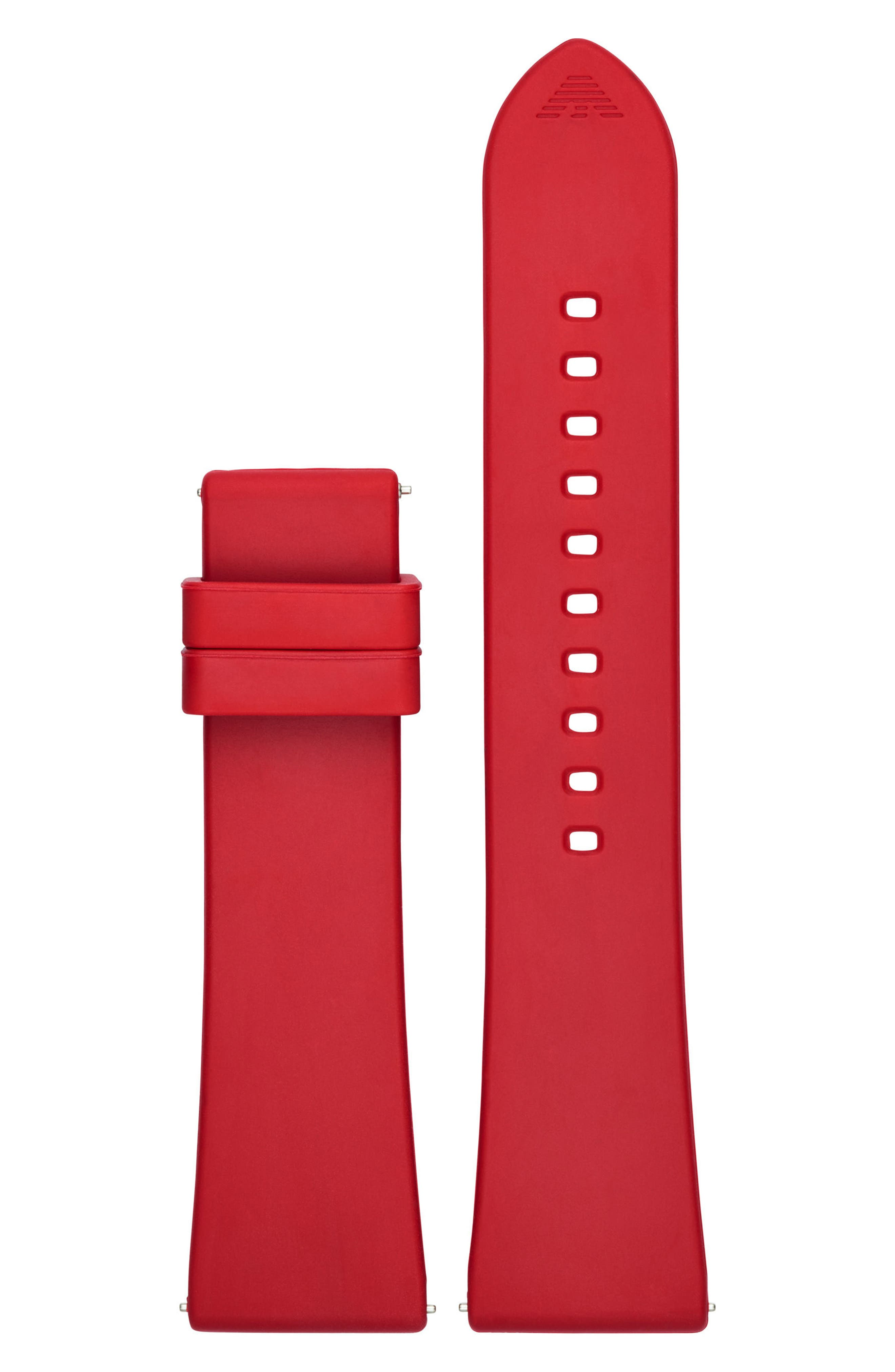 22mm Silicone Watch Strap,                             Main thumbnail 1, color,                             Red