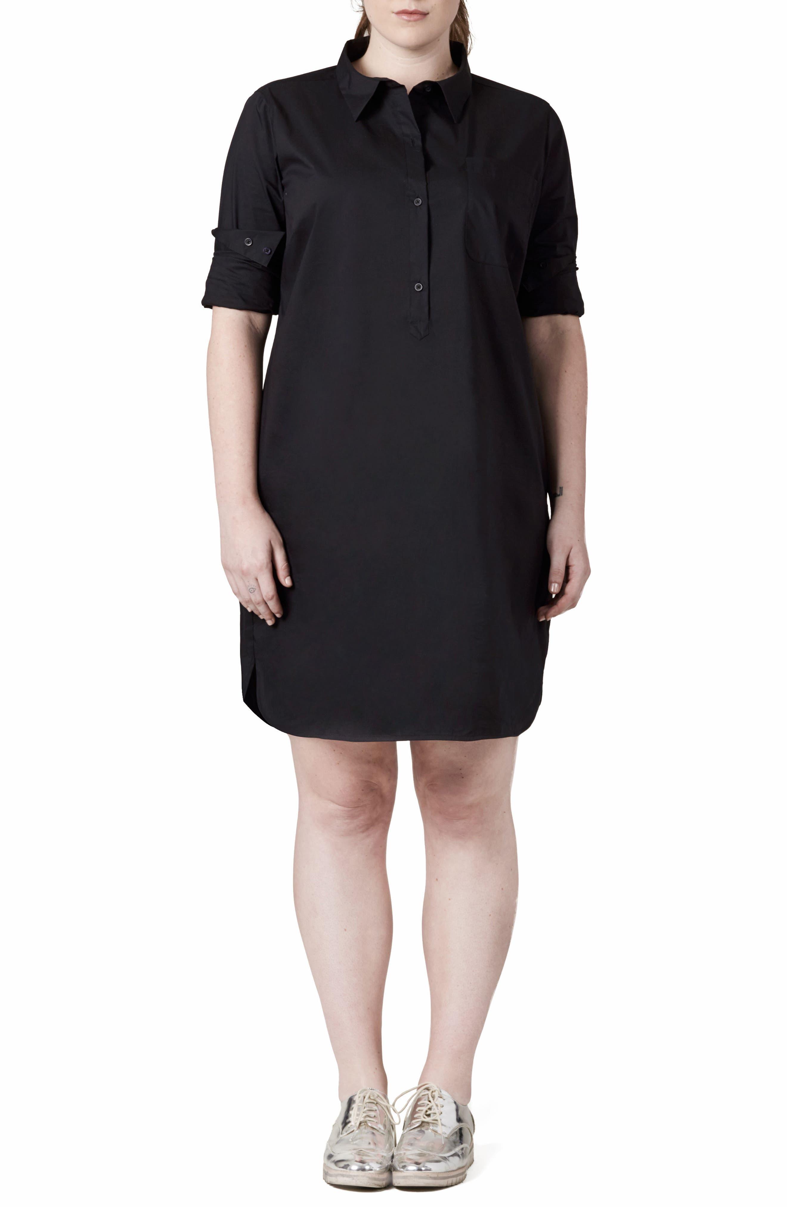 Rubicon Shirtdress,                             Main thumbnail 1, color,                             Black