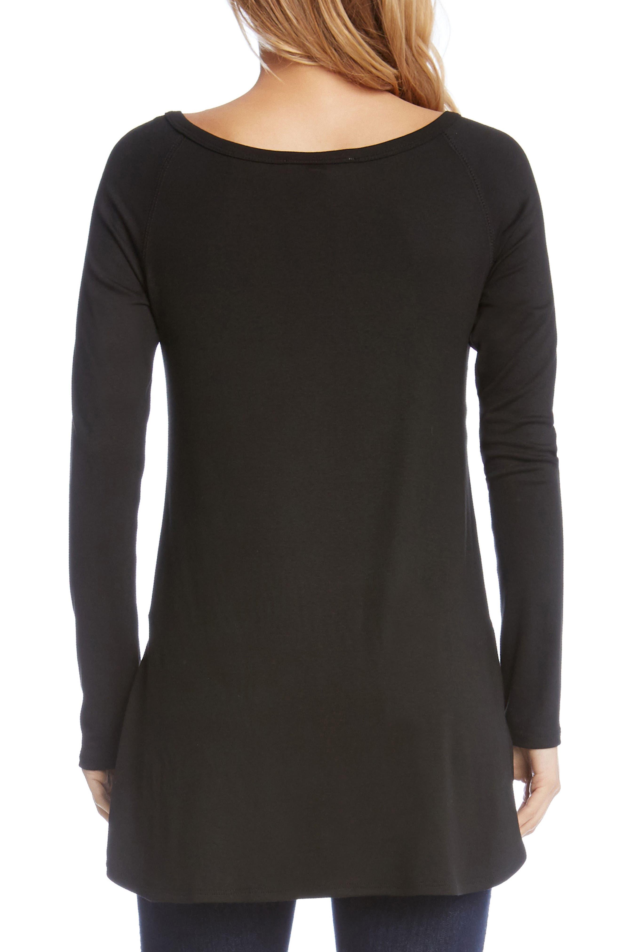 Alternate Image 2  - Karen Kane Shirttail Hem Long Sleeve Tee