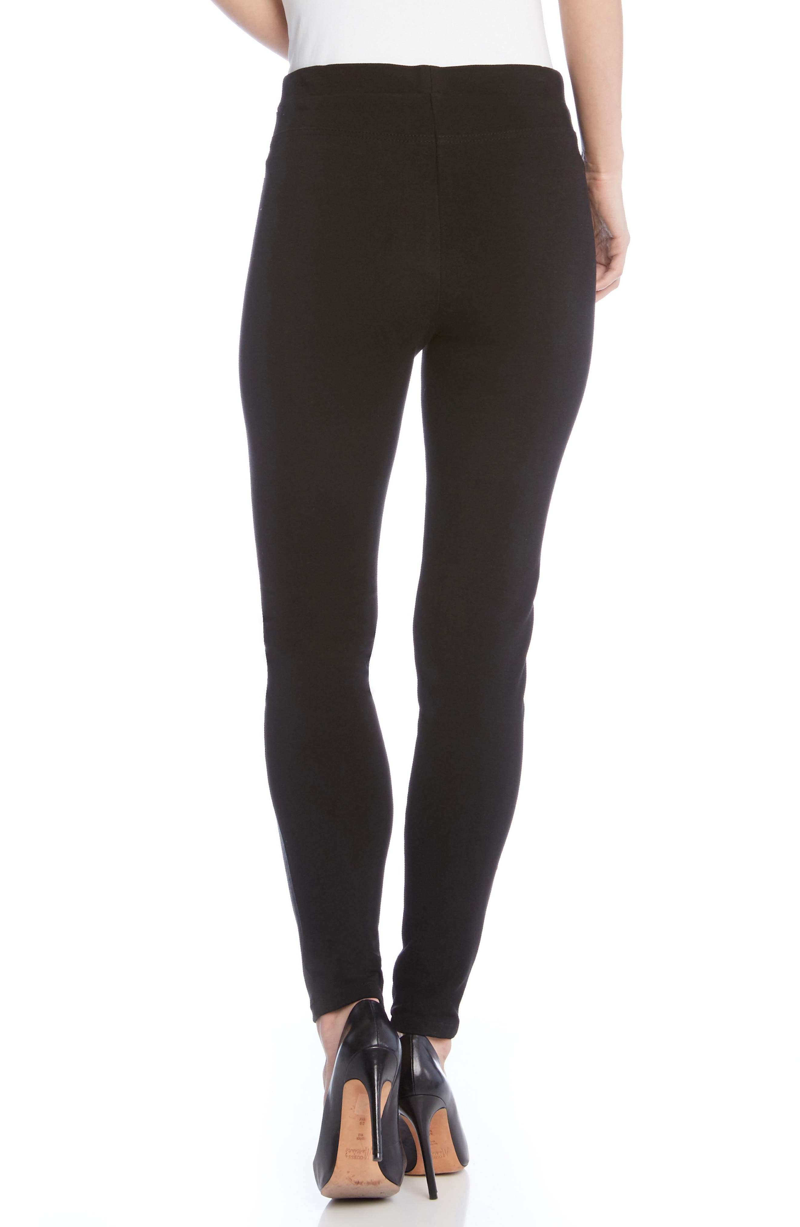 Alternate Image 2  - Karen Kane Faux Leather Front Skinny Pants
