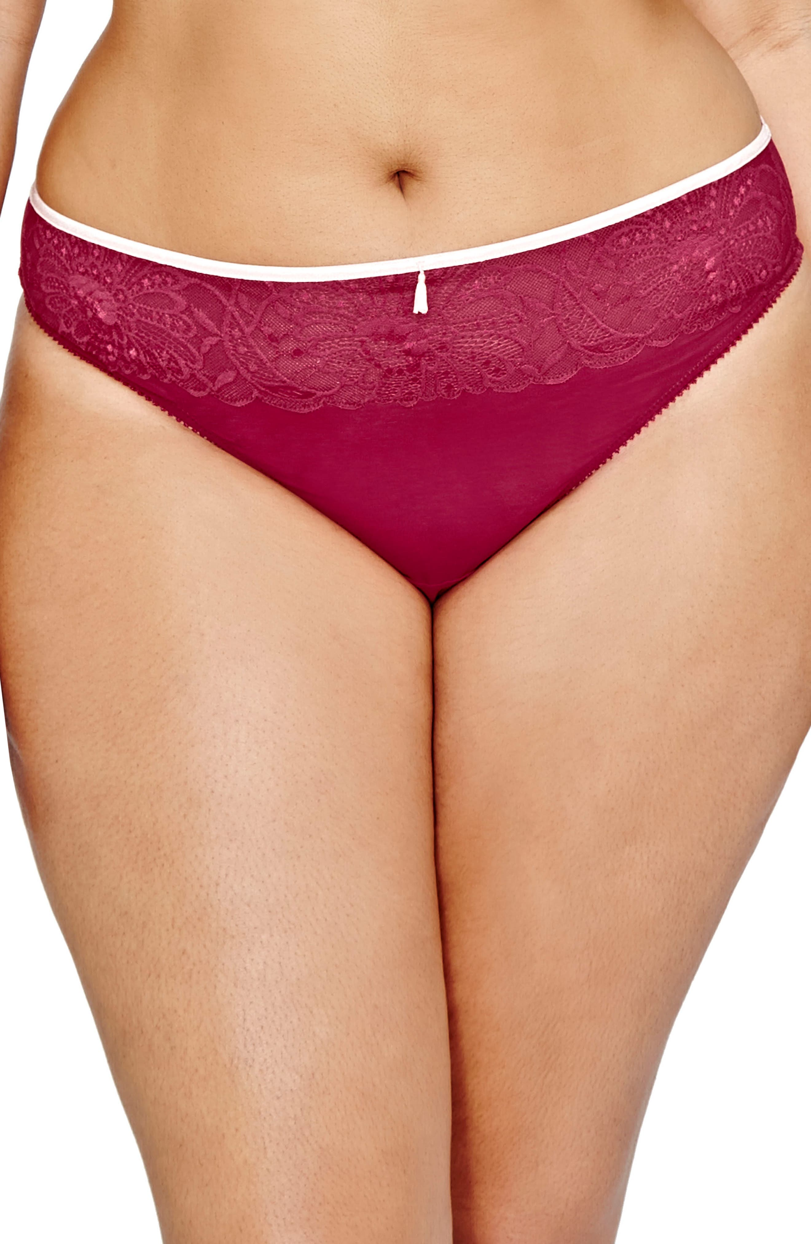 Alternate Image 1 Selected - Déesse Lingerie by Addition Elle Thong (Plus Size)
