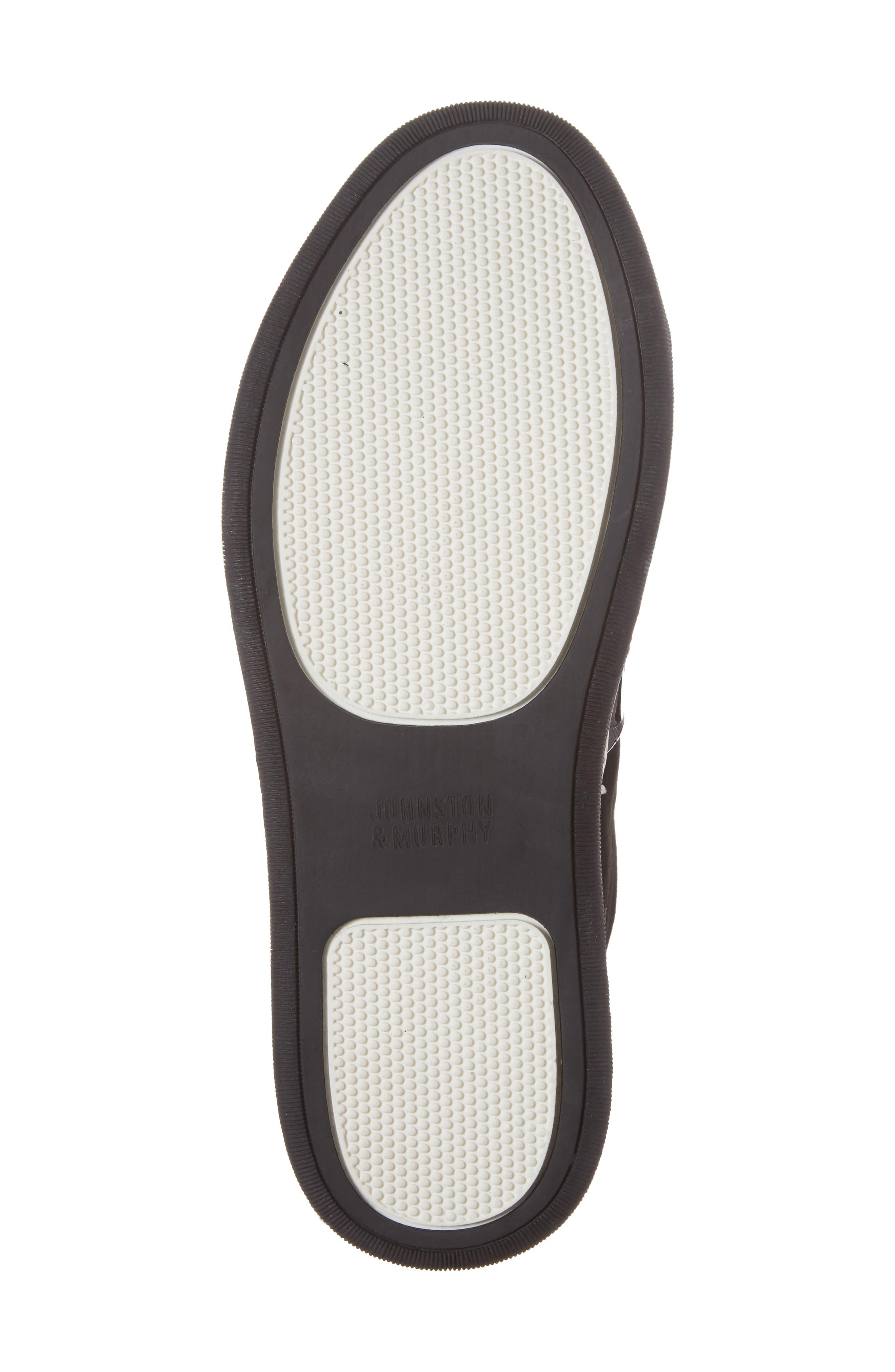 Eden Slip-On Sneaker,                             Alternate thumbnail 6, color,                             Black Suede