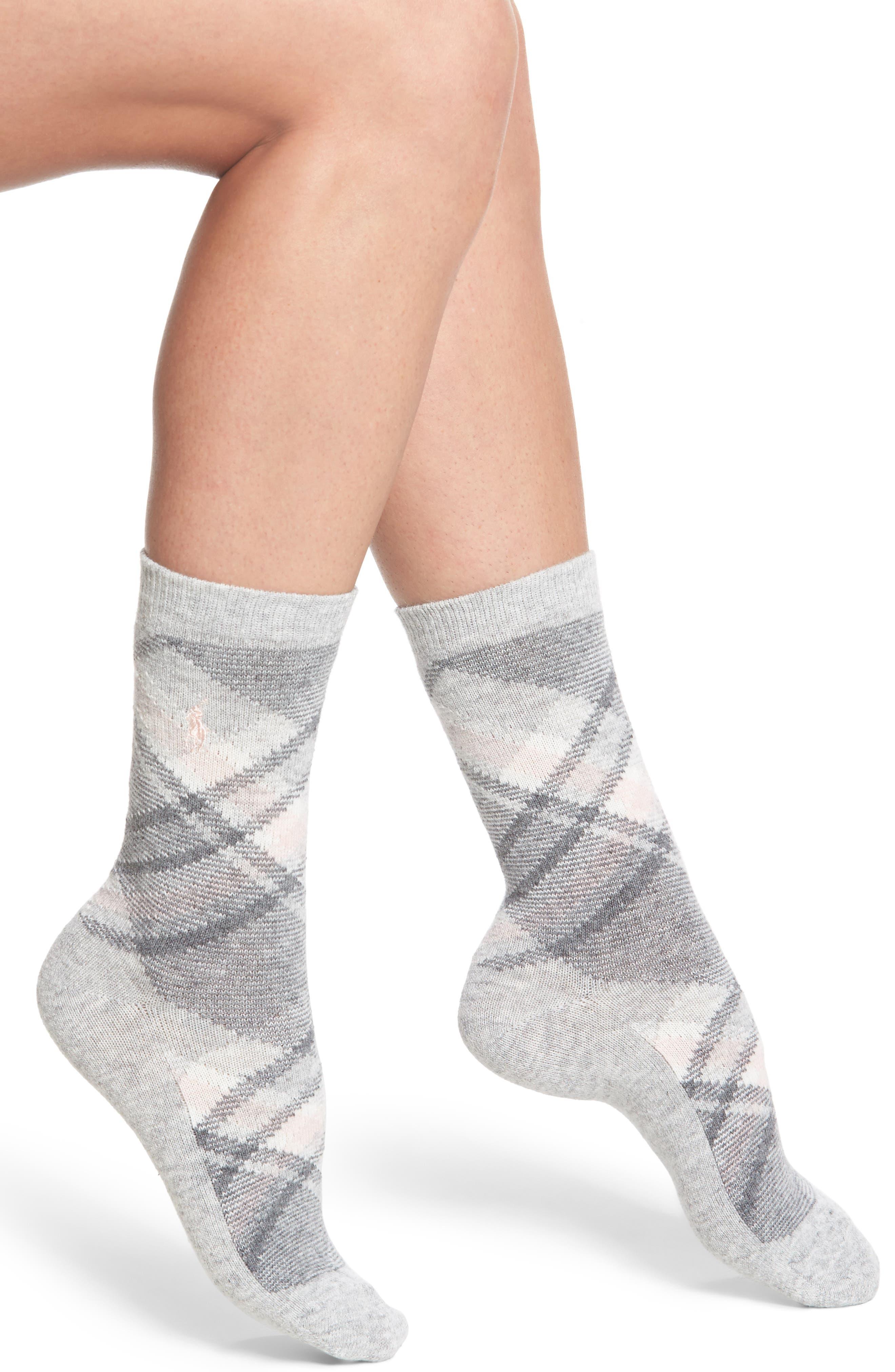 Ralph Lauren Plaid Boot Socks (2 for $24)