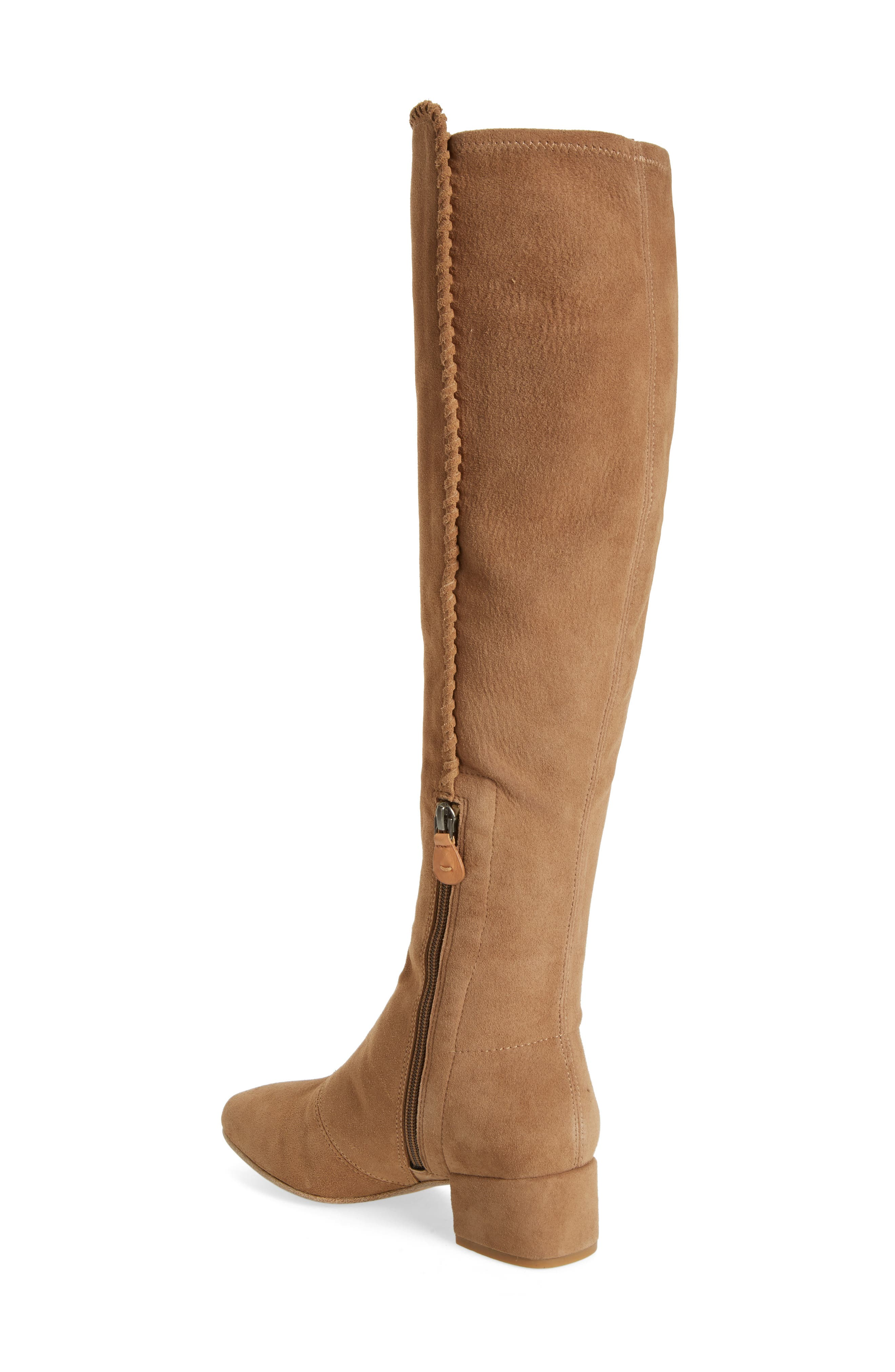 Emery Over the Knee Boot,                             Alternate thumbnail 2, color,                             Camel Suede