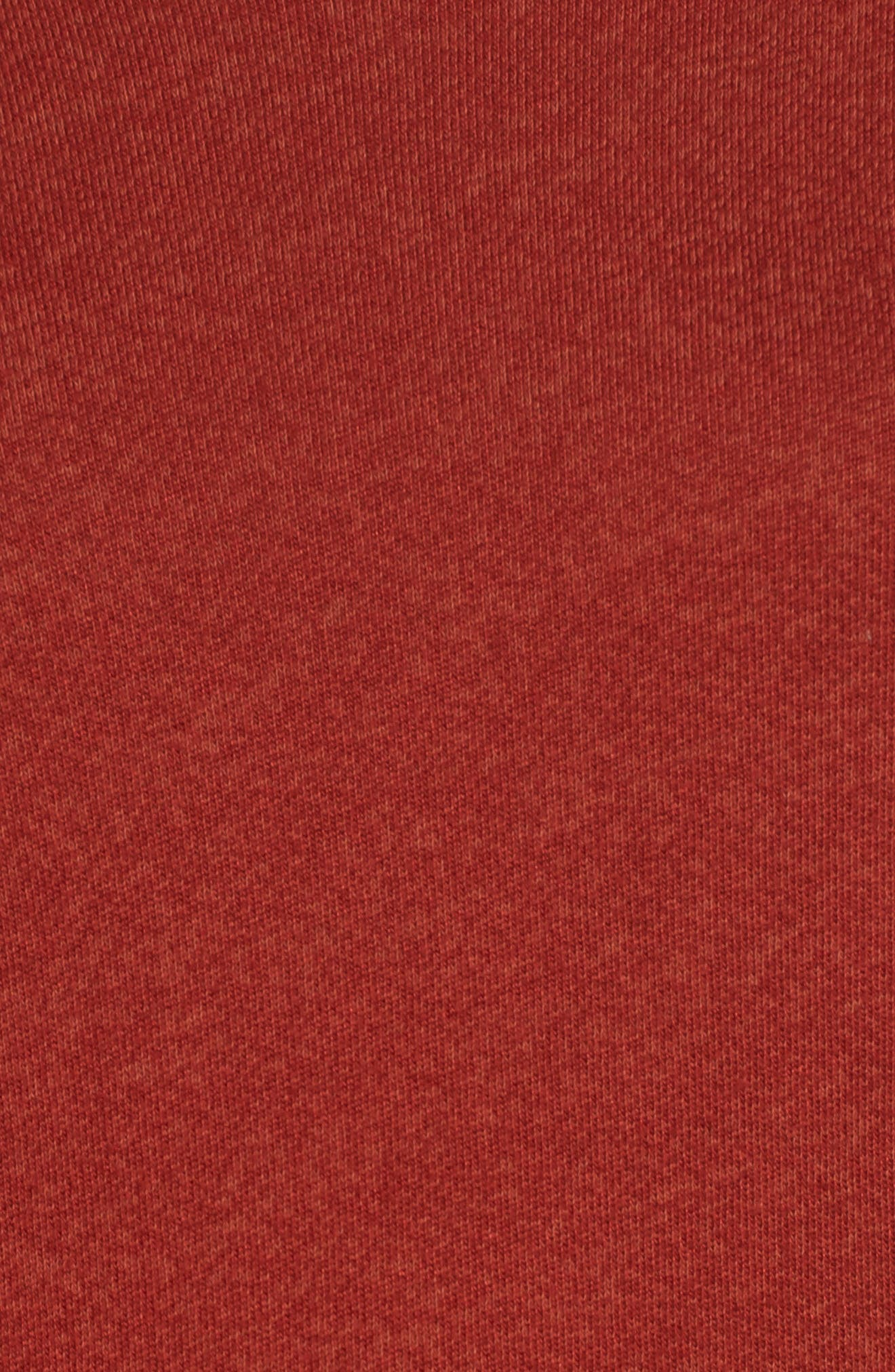 Penny Hooded Sweatshirt,                             Alternate thumbnail 5, color,                             Rust