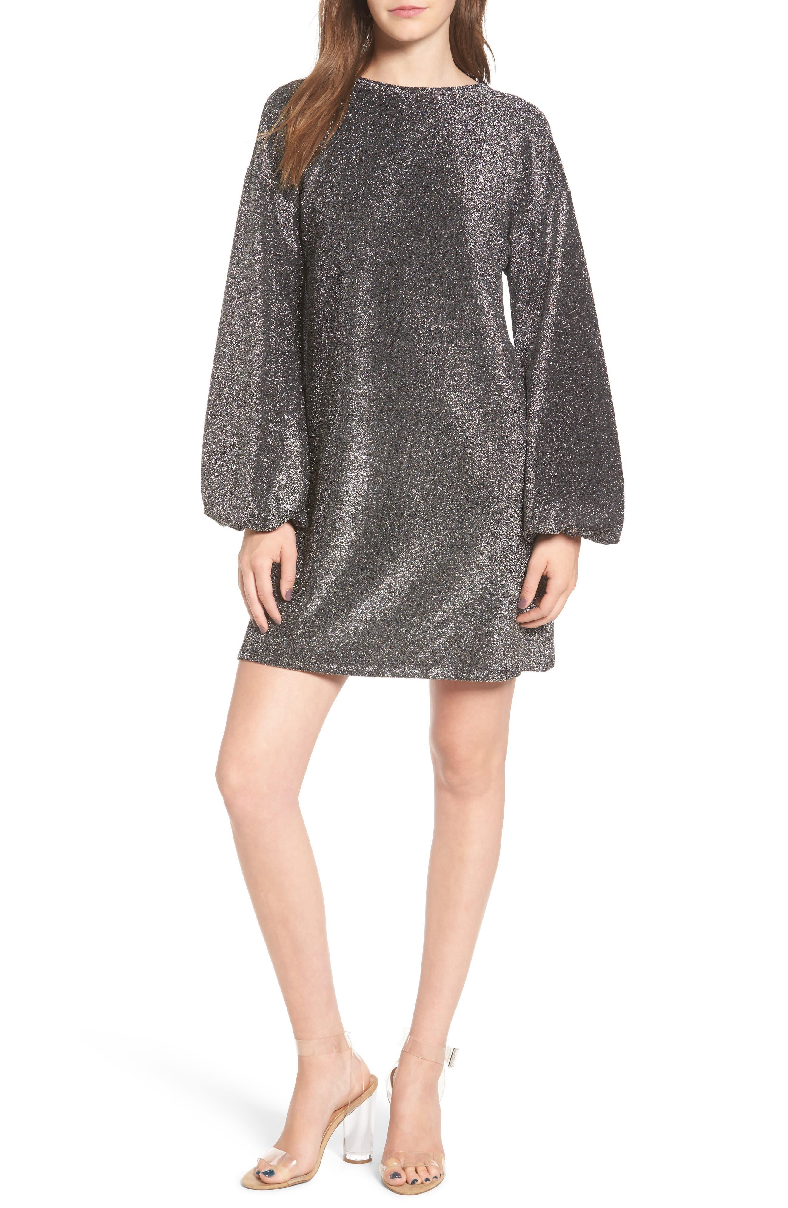 Leith Metallic Shift Dress