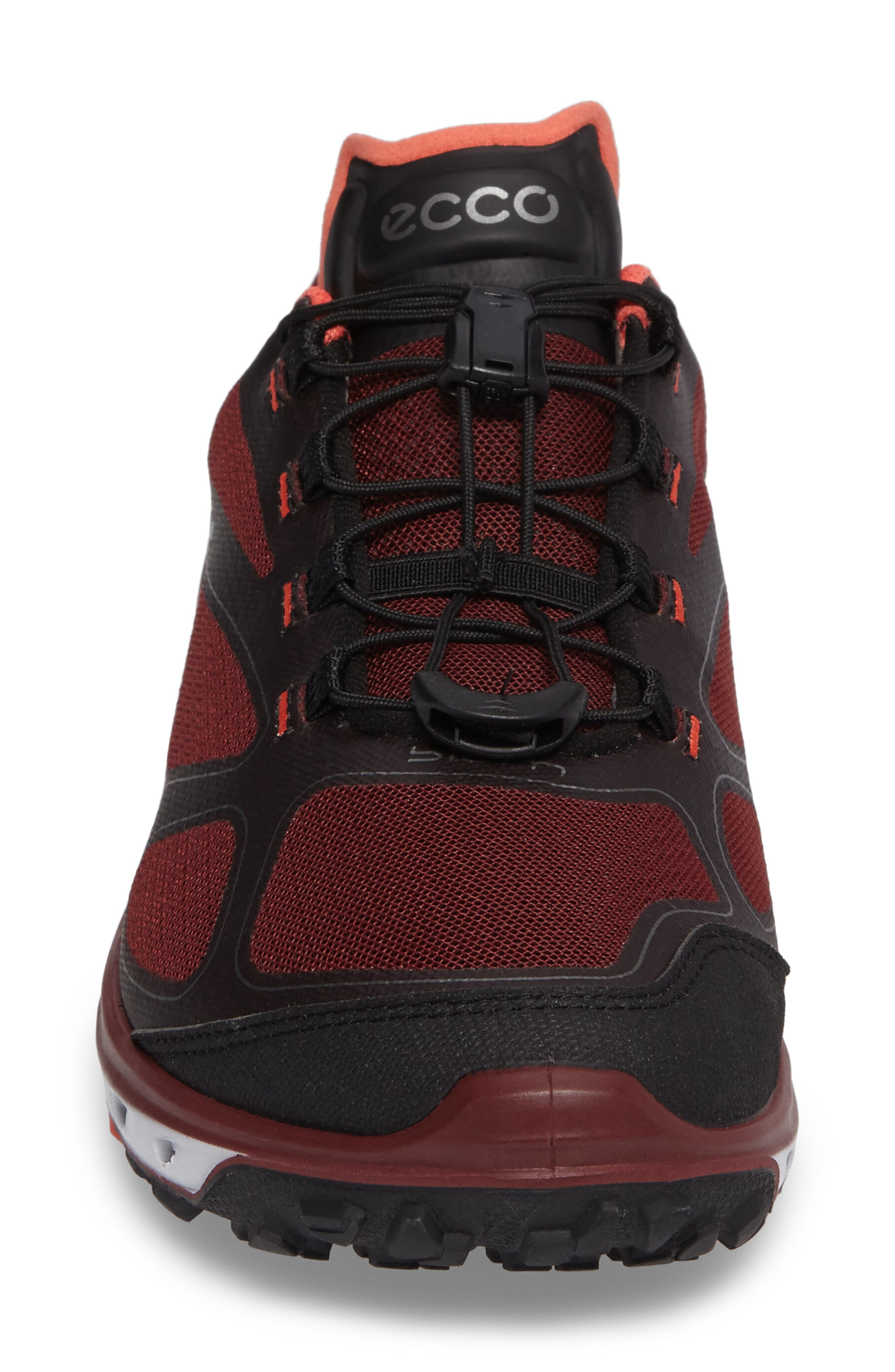 BIOM Venture GTX Sneaker,                             Alternate thumbnail 4, color,                             Black/ Coral Blush Fabric