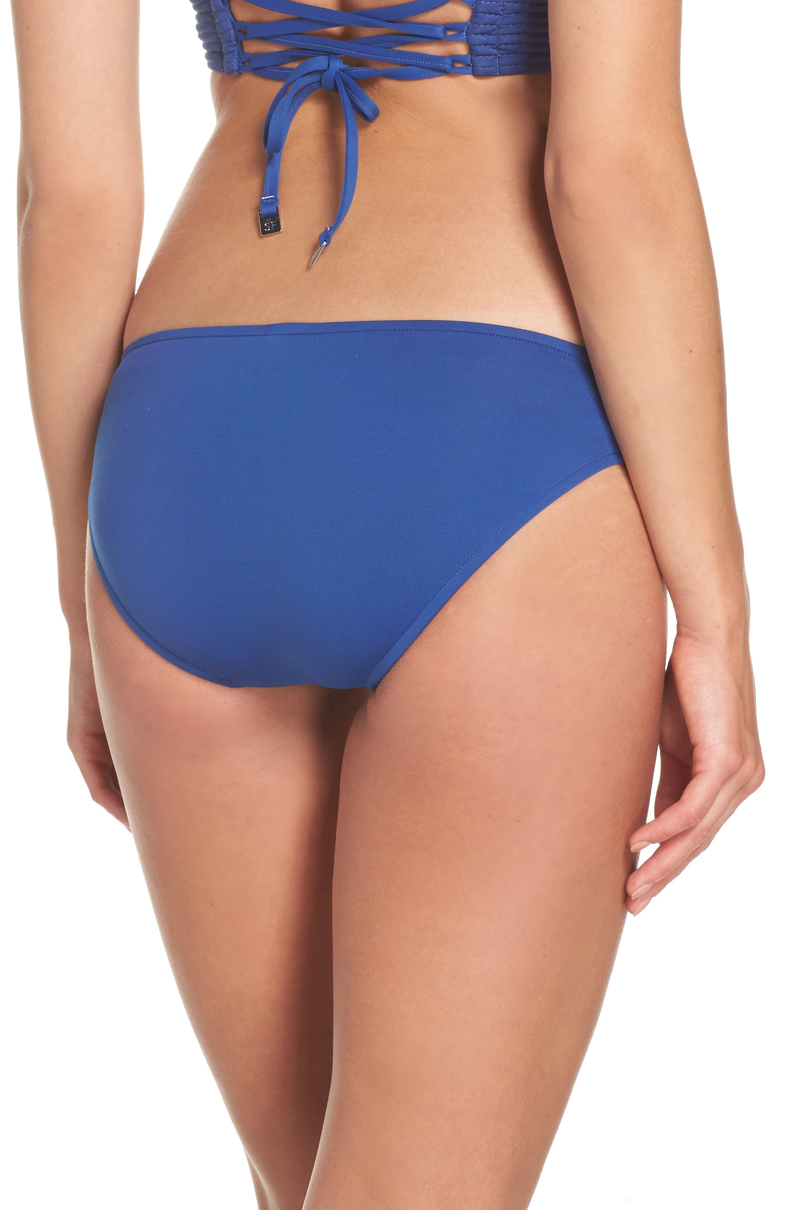 Quilted Bikini Bottoms,                             Alternate thumbnail 2, color,                             French Blue