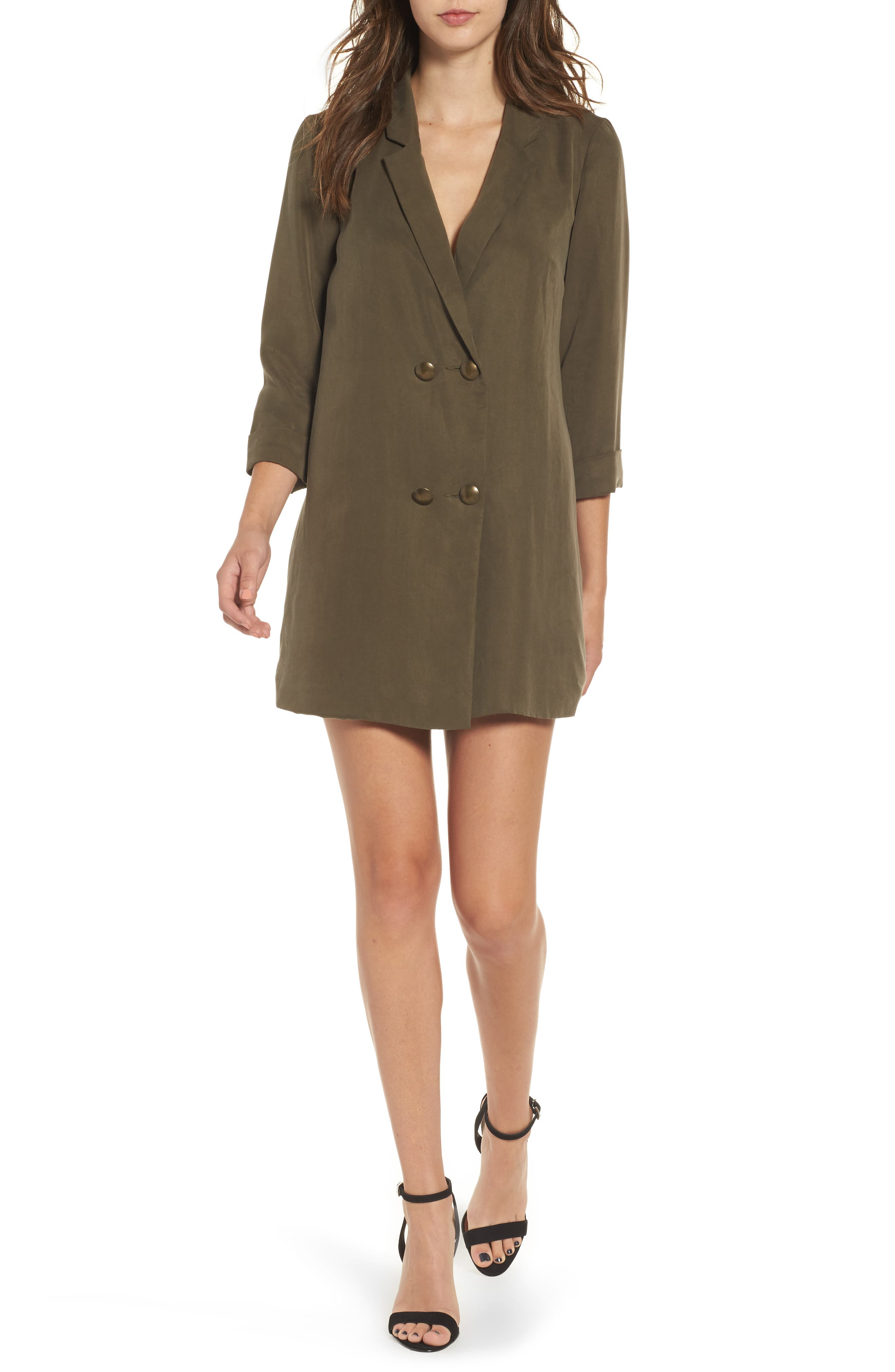 Lovers + Friends Double Breasted Shirtdress