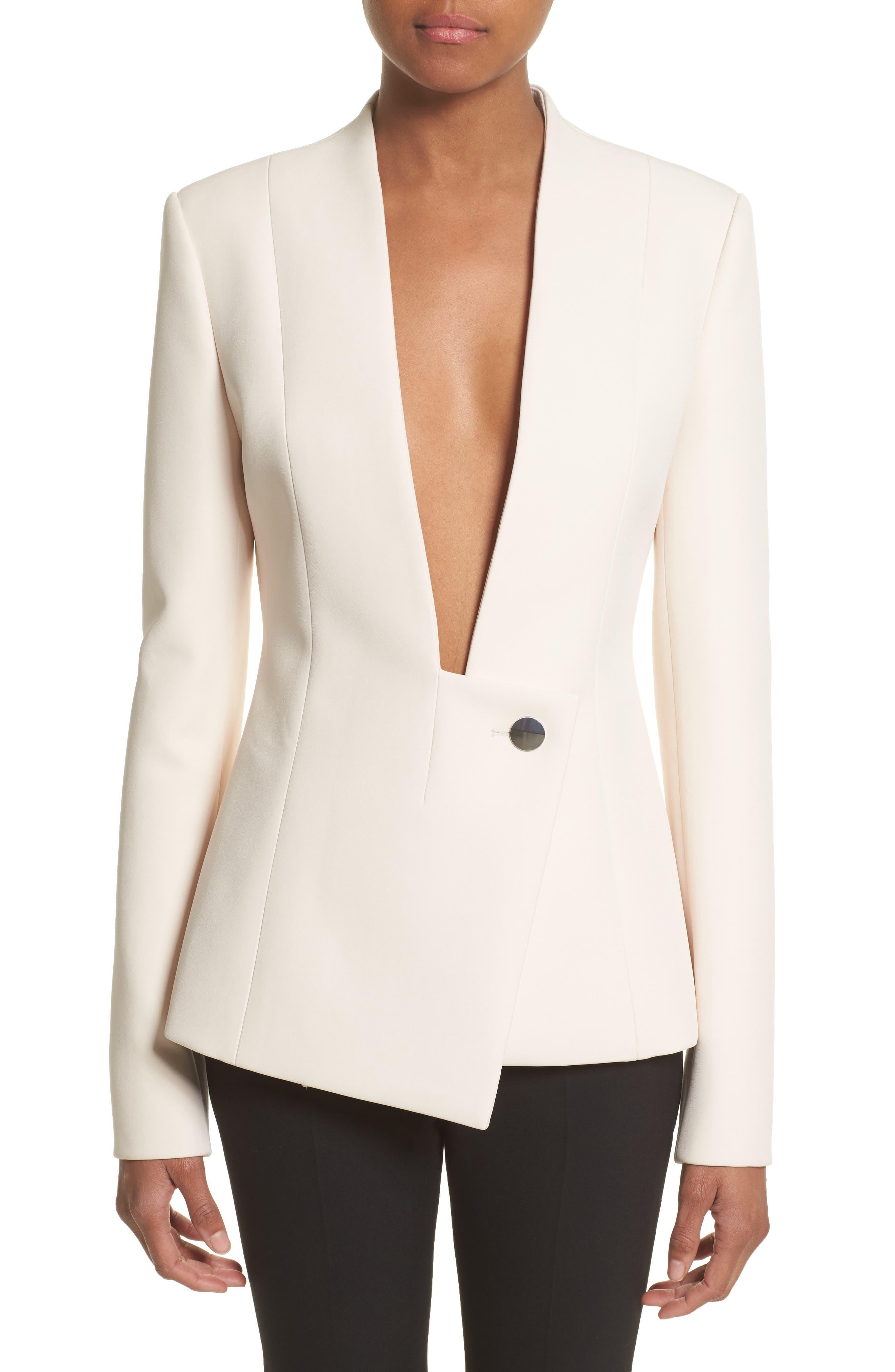 Asymmetrical Blazer,                         Main,                         color, Nude