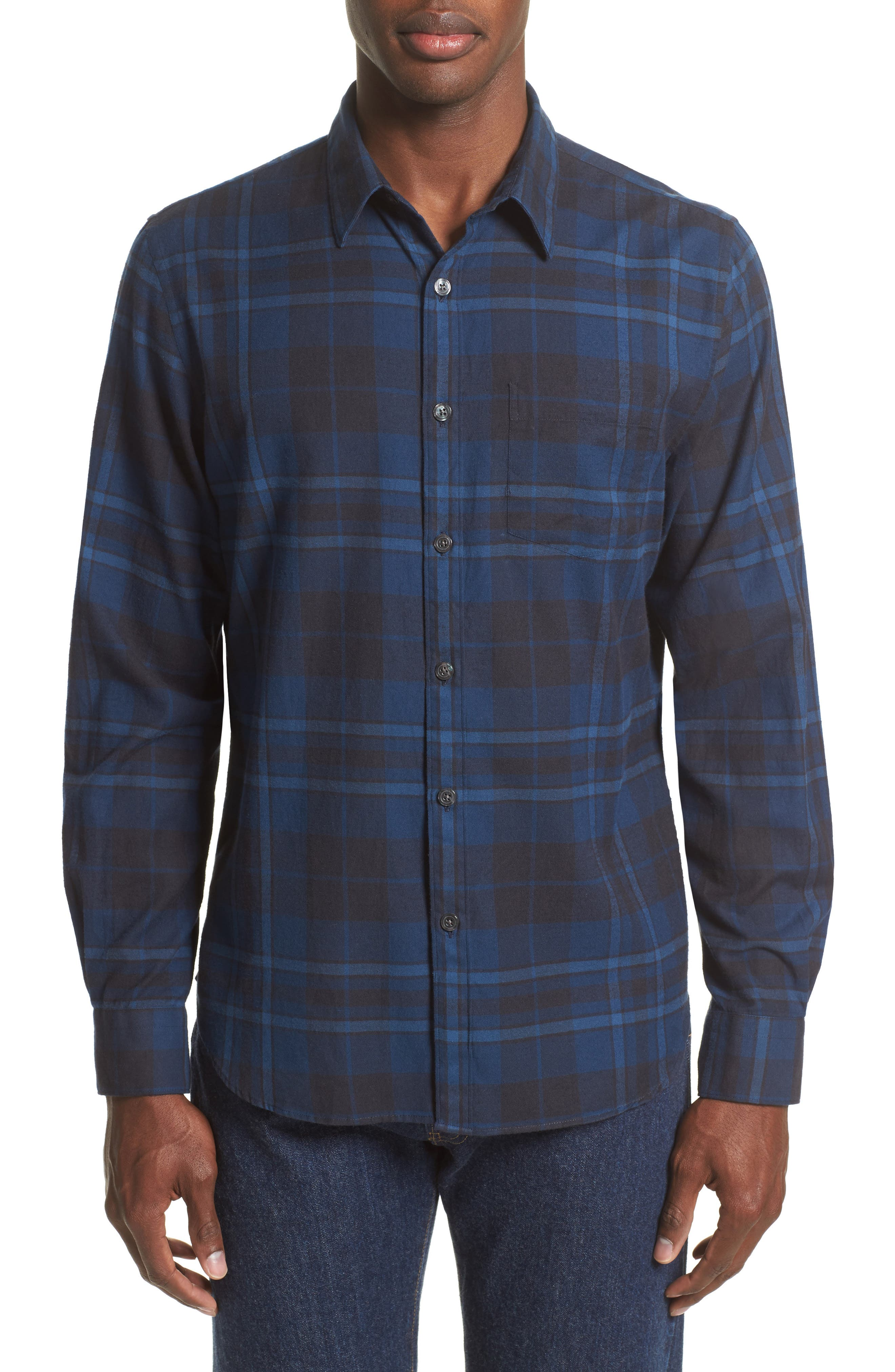 Todd Snyder Blue Flannel Shirt