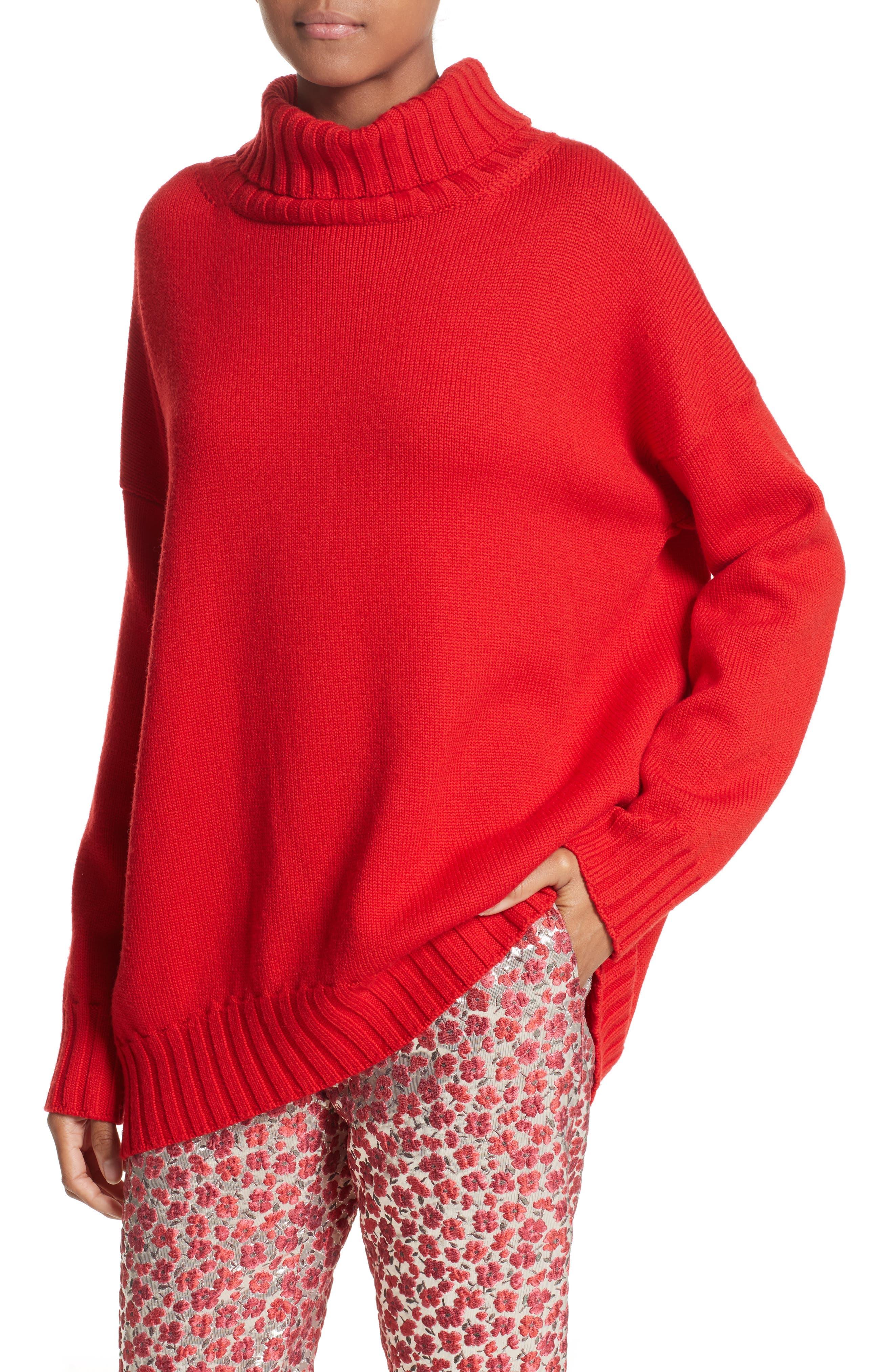 Alternate Image 6  - Oscar de la Renta Virgin Wool Turtleneck Sweater