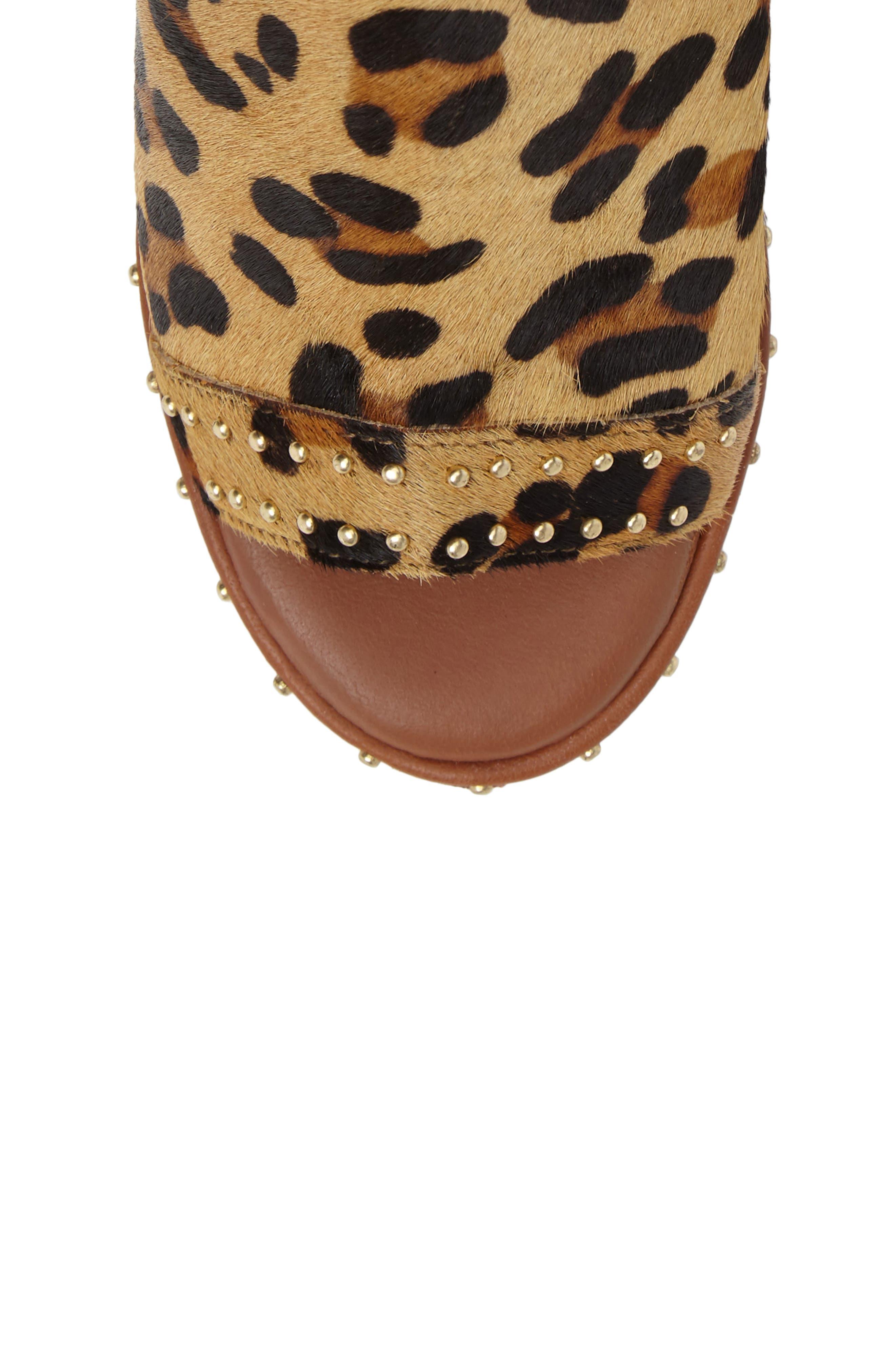 North Studded Bootie Sandal,                             Alternate thumbnail 5, color,                             Leopard