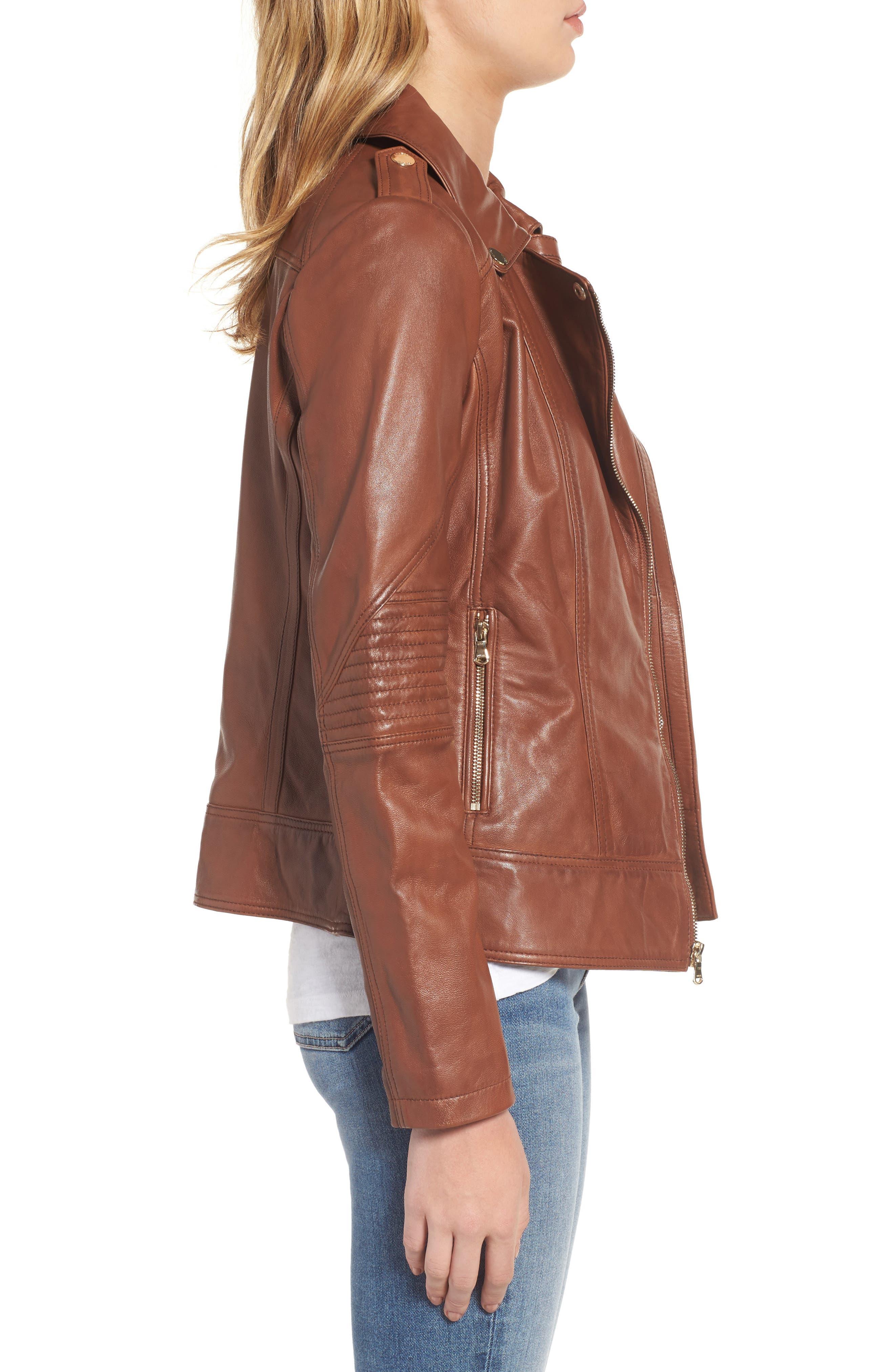 Alternate Image 3  - Guess Leather Moto Jacket