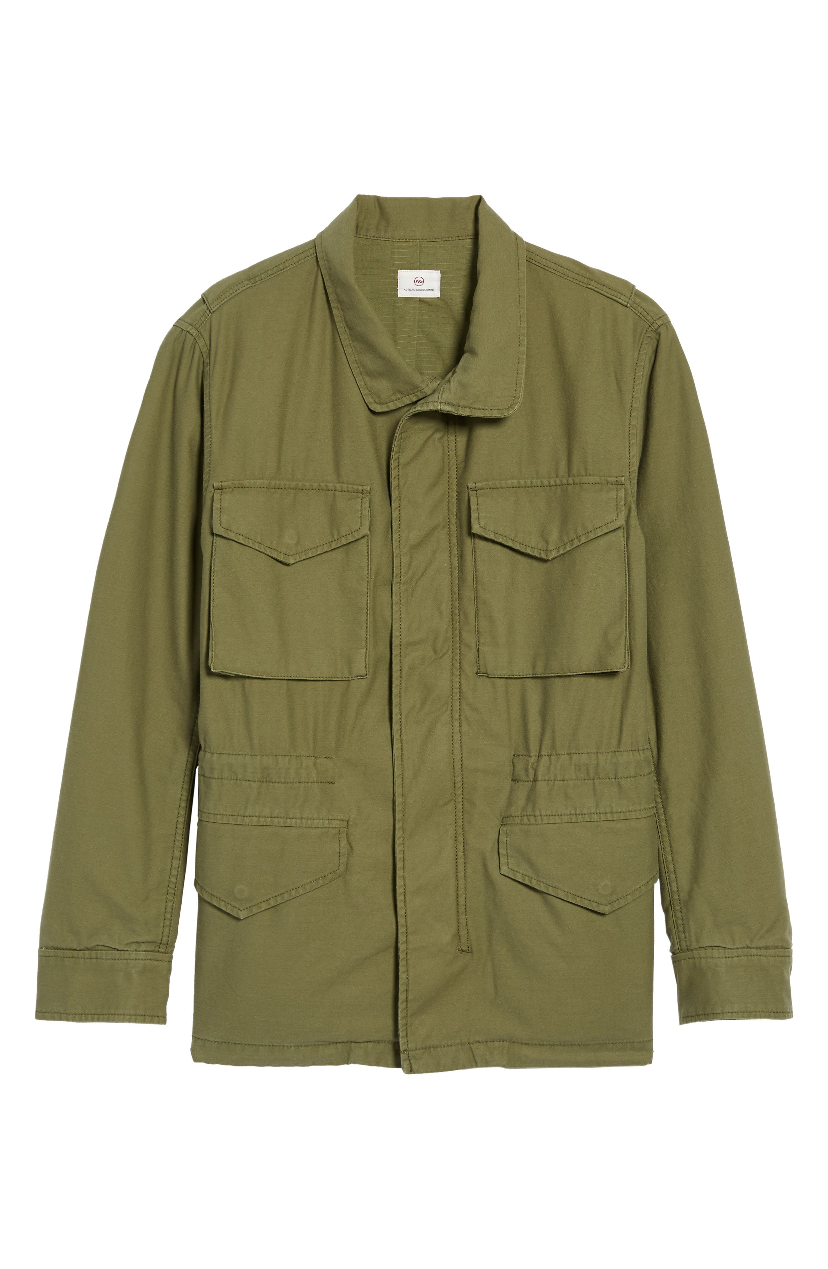 Jameson Field Jacket,                             Alternate thumbnail 5, color,                             Climbing Ivy
