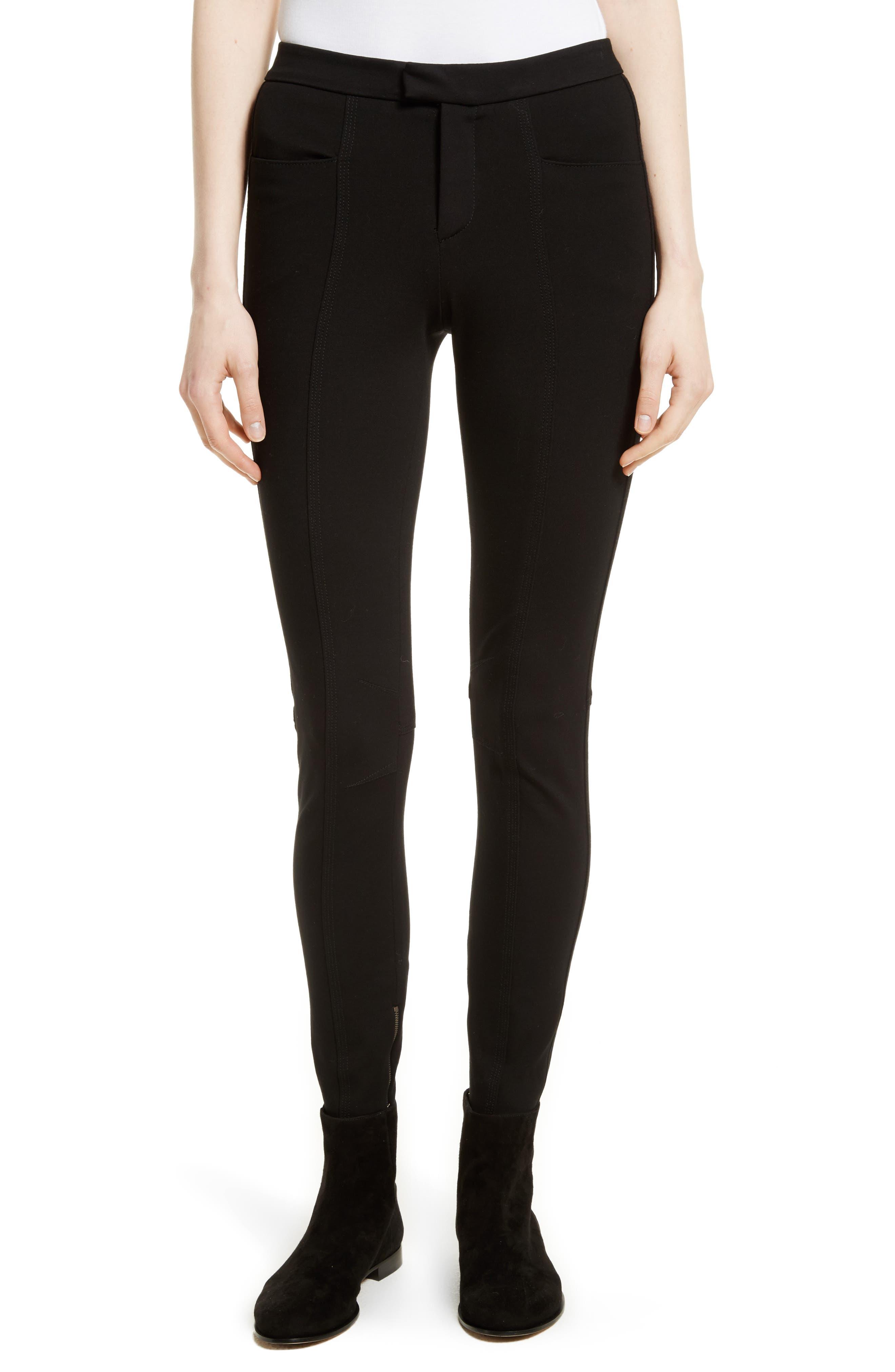 Ponte Moto Pants,                         Main,                         color, Black