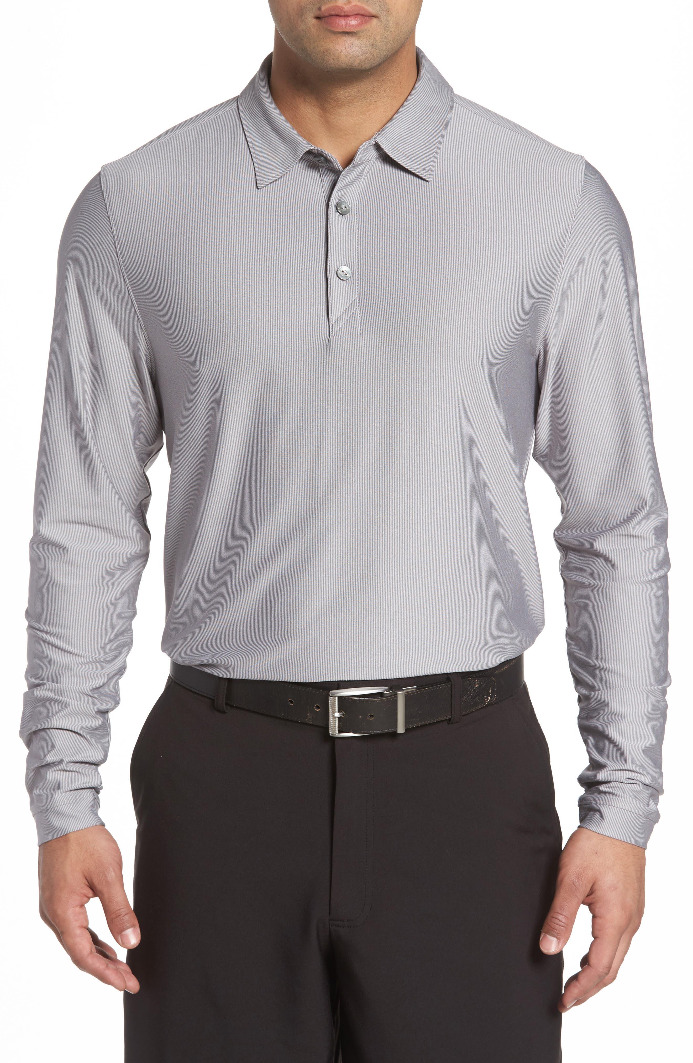 Main Image - Cutter & Buck Cunningham Stripe Jersey Polo