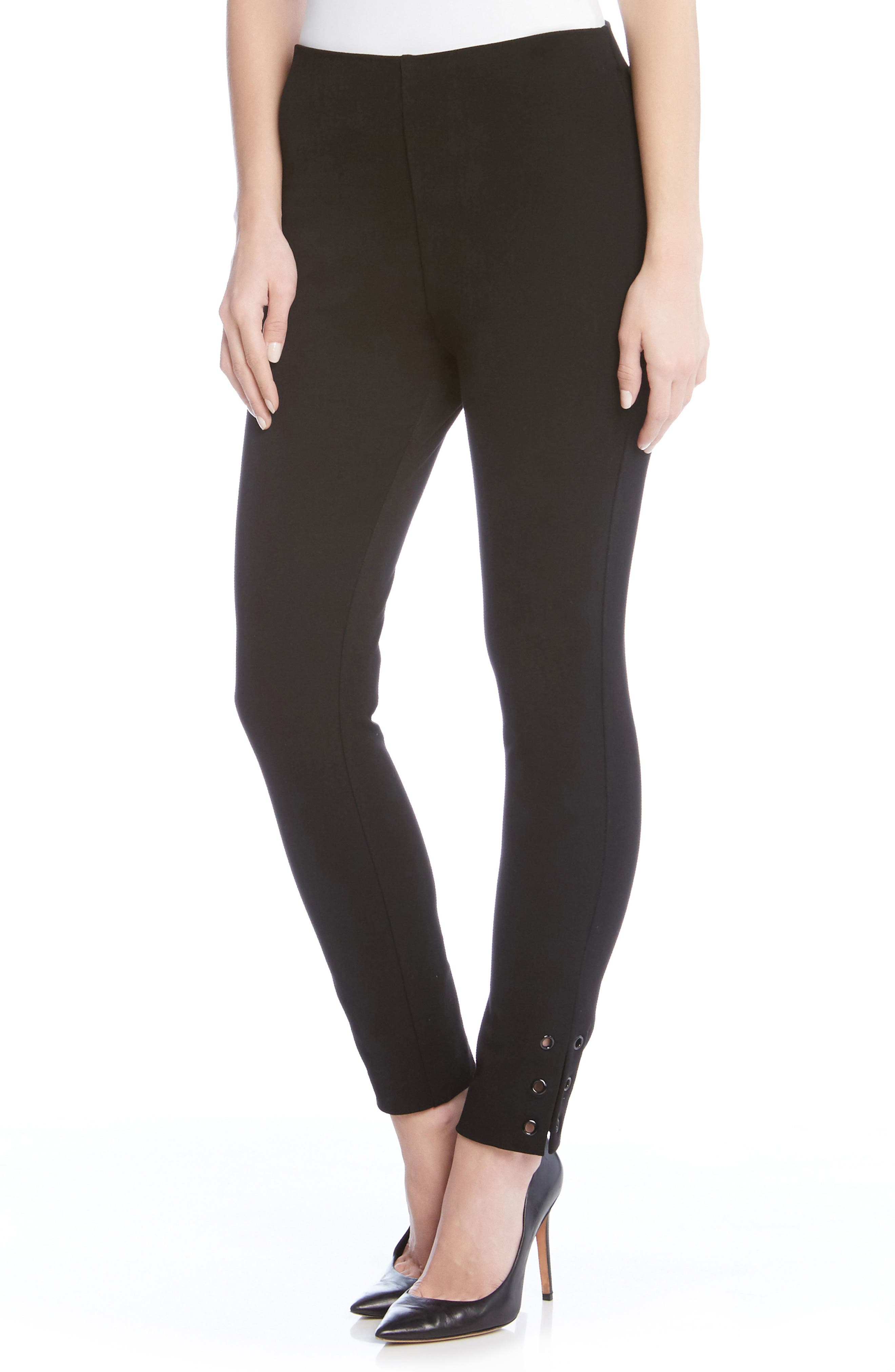 Piper Grommet Detail Skinny Pants,                         Main,                         color, Black