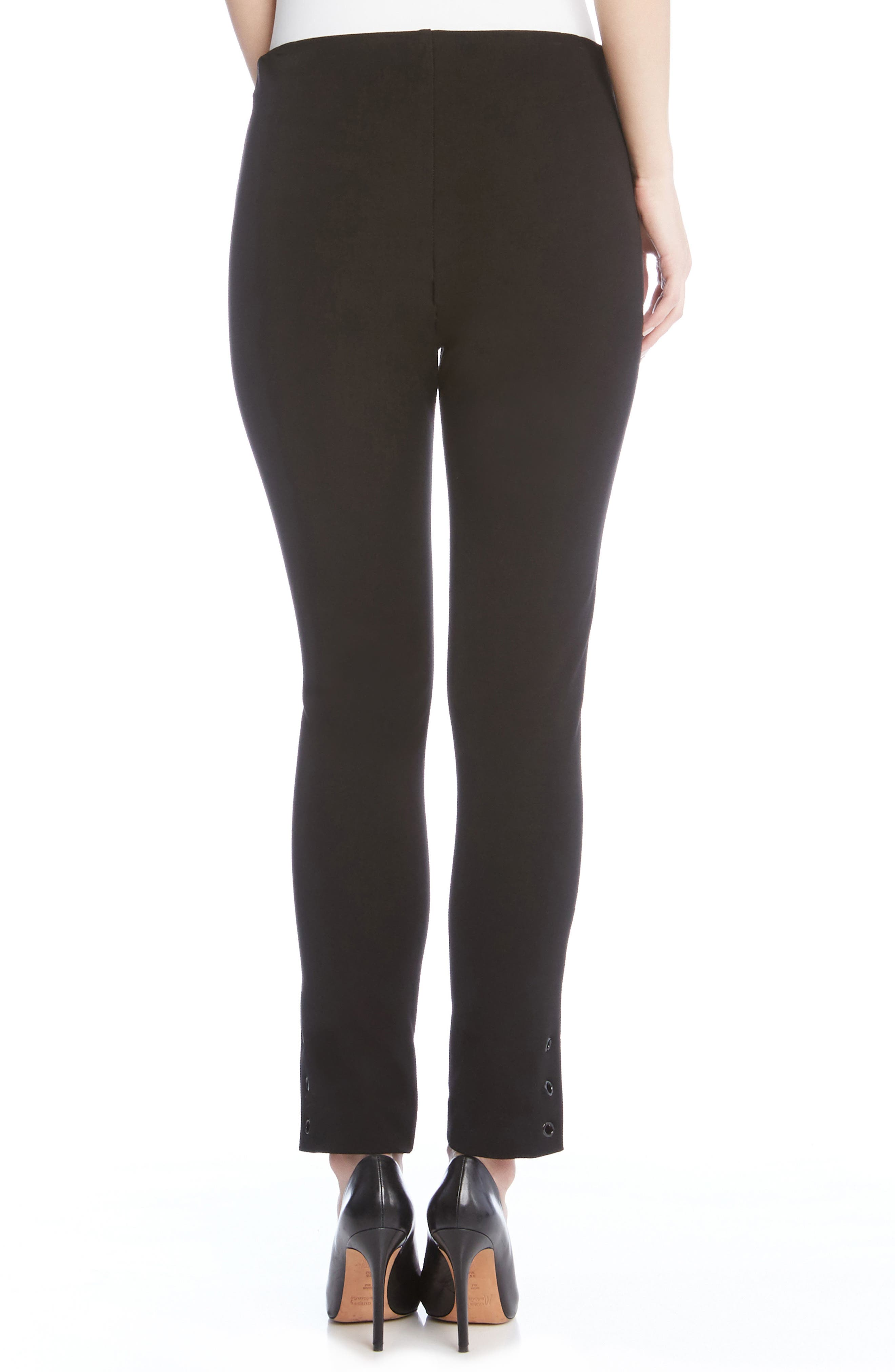 Piper Grommet Detail Skinny Pants,                             Alternate thumbnail 2, color,                             Black