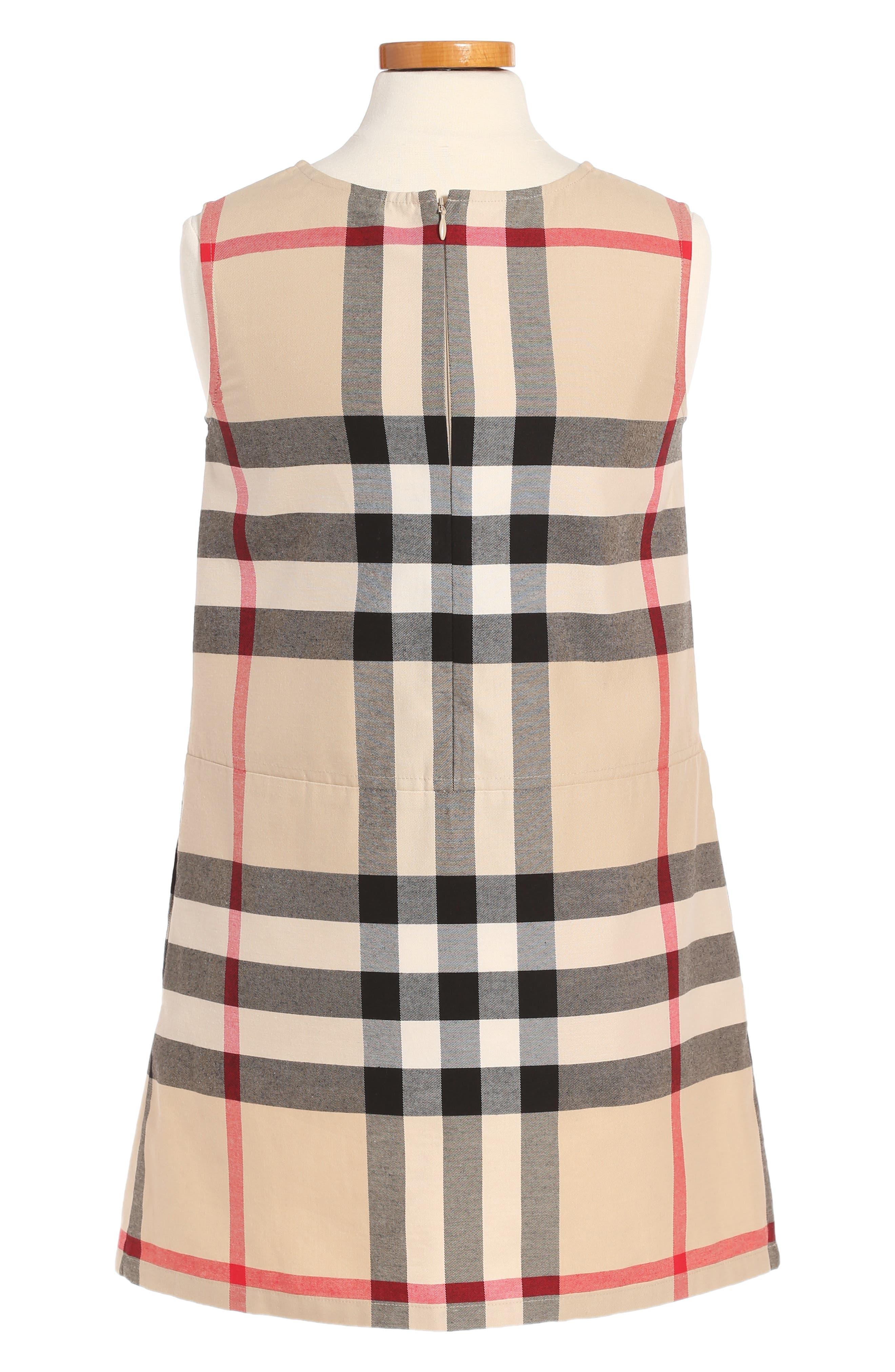 Dawny Check Print Sleeveless Dress,                             Alternate thumbnail 2, color,                             Heritage Stone