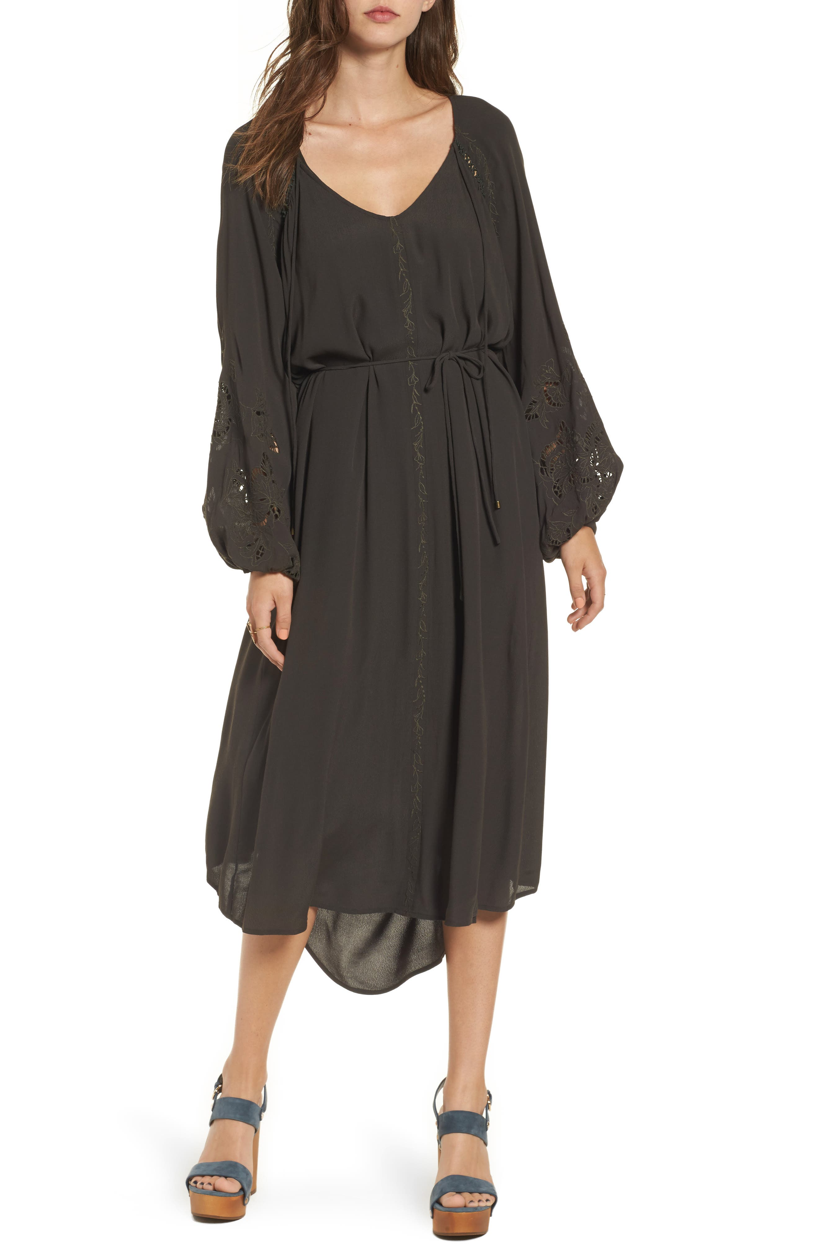 Ava Crochet Detail Dress,                         Main,                         color, Dark Slate