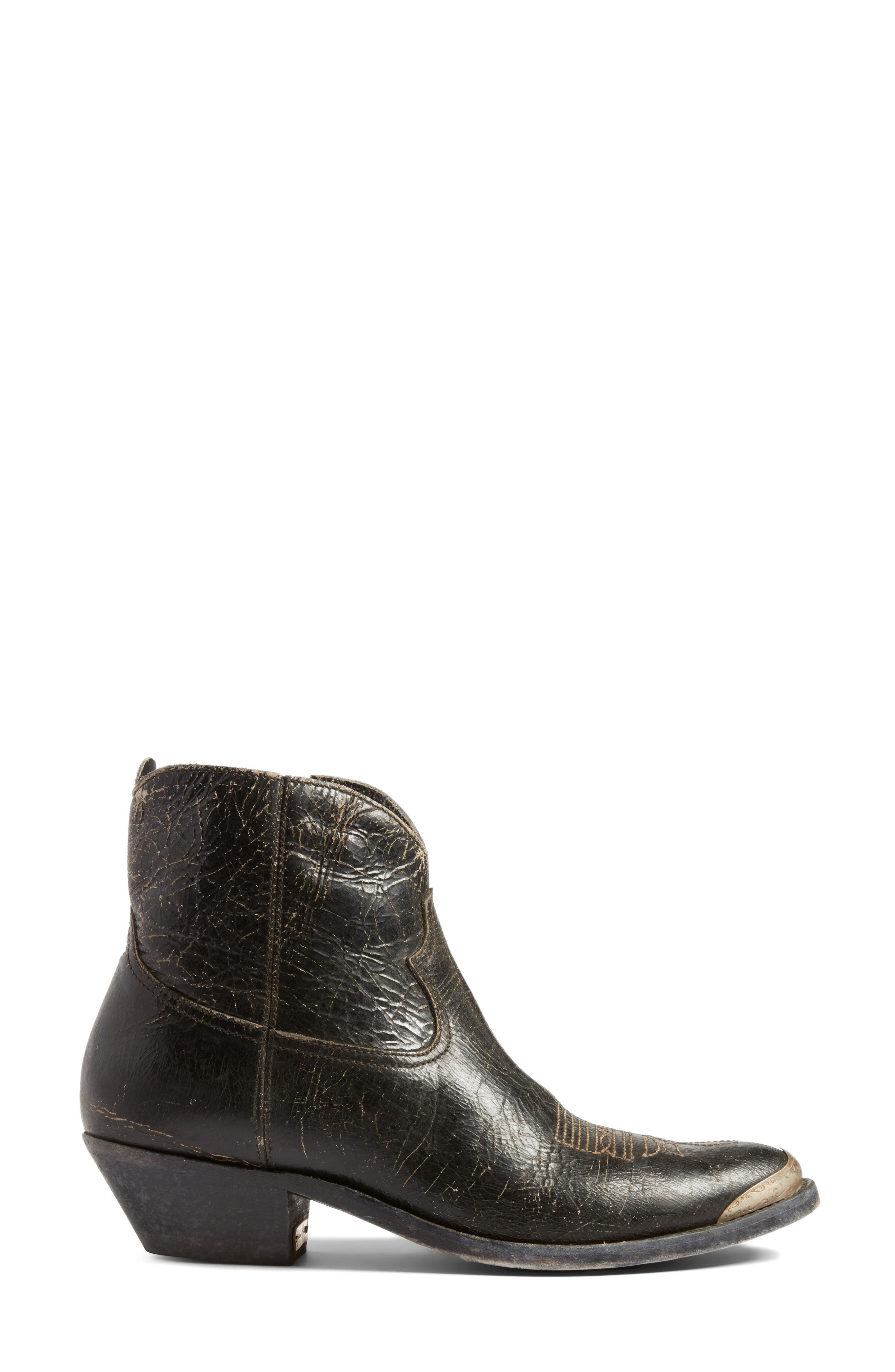 Young Western Boot,                             Alternate thumbnail 5, color,                             Black