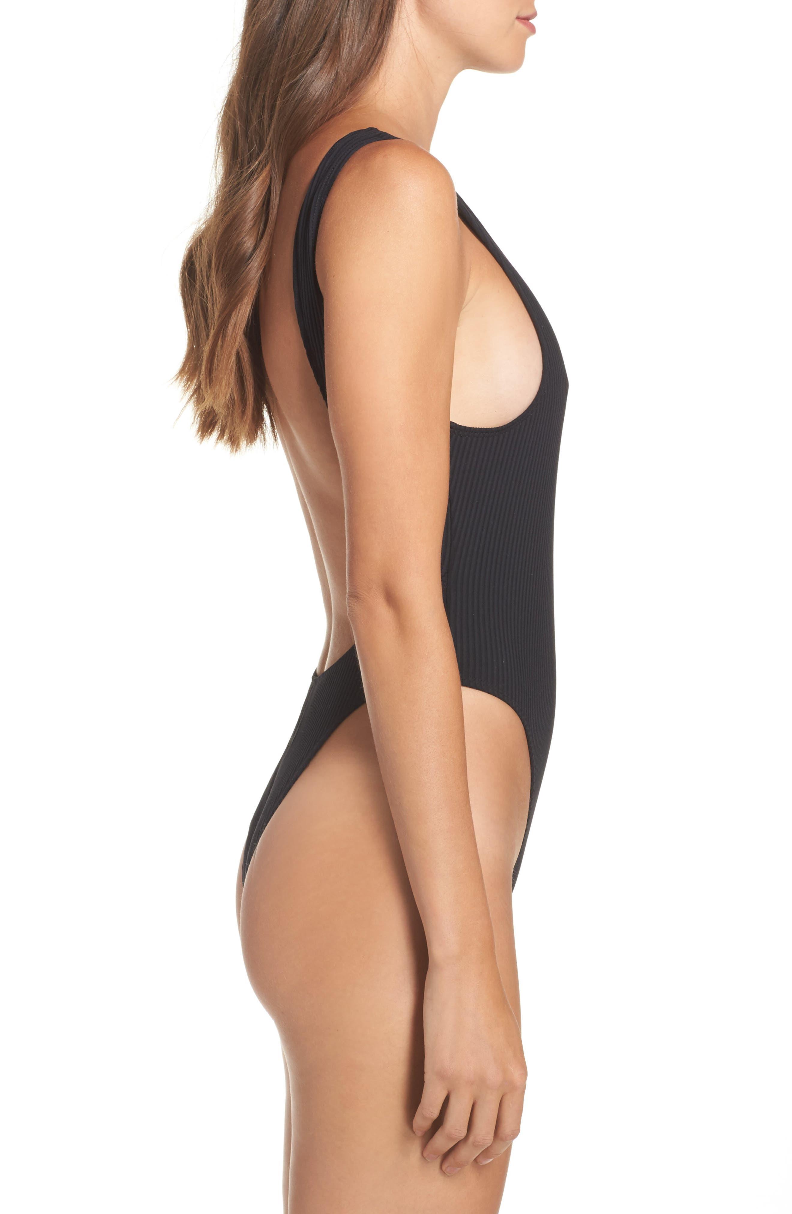 Alternate Image 3  - Minimale Animale Tyler Ribbed One-Piece Swimsuit