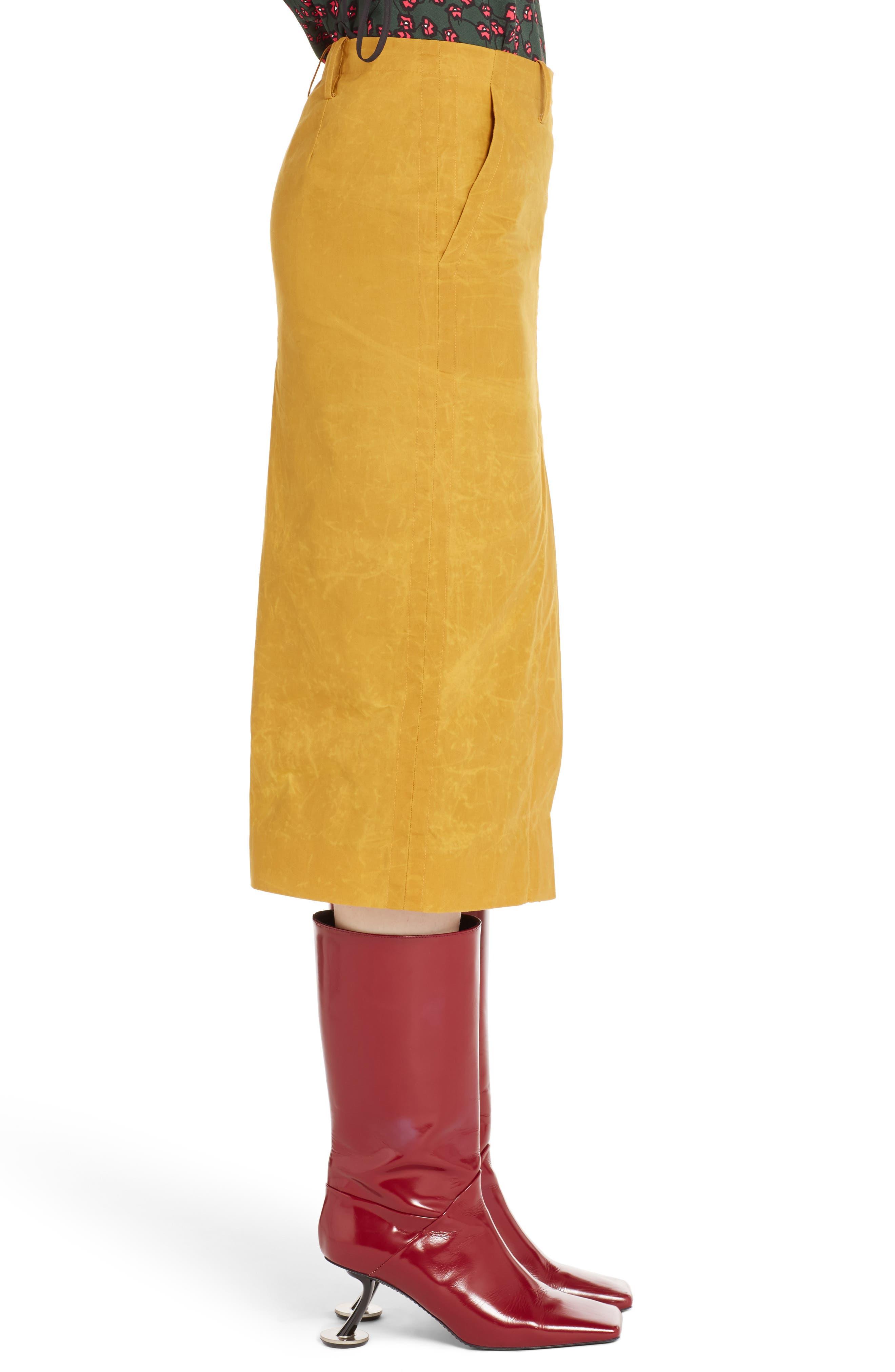 Alternate Image 3  - Marni Waxed Cotton Pencil Skirt