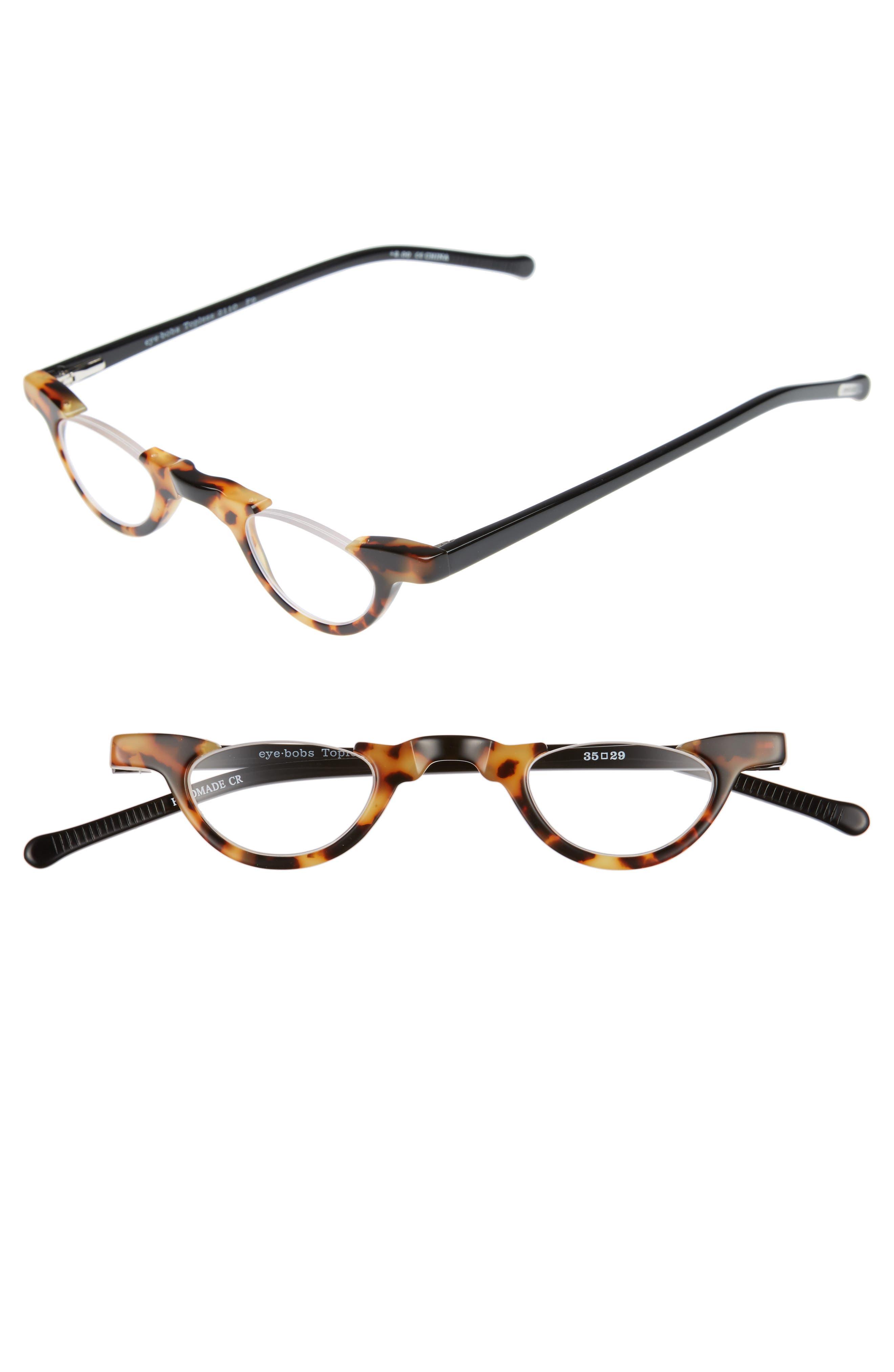 Topless 35mm Reading Glasses,                         Main,                         color, Light Tortoise