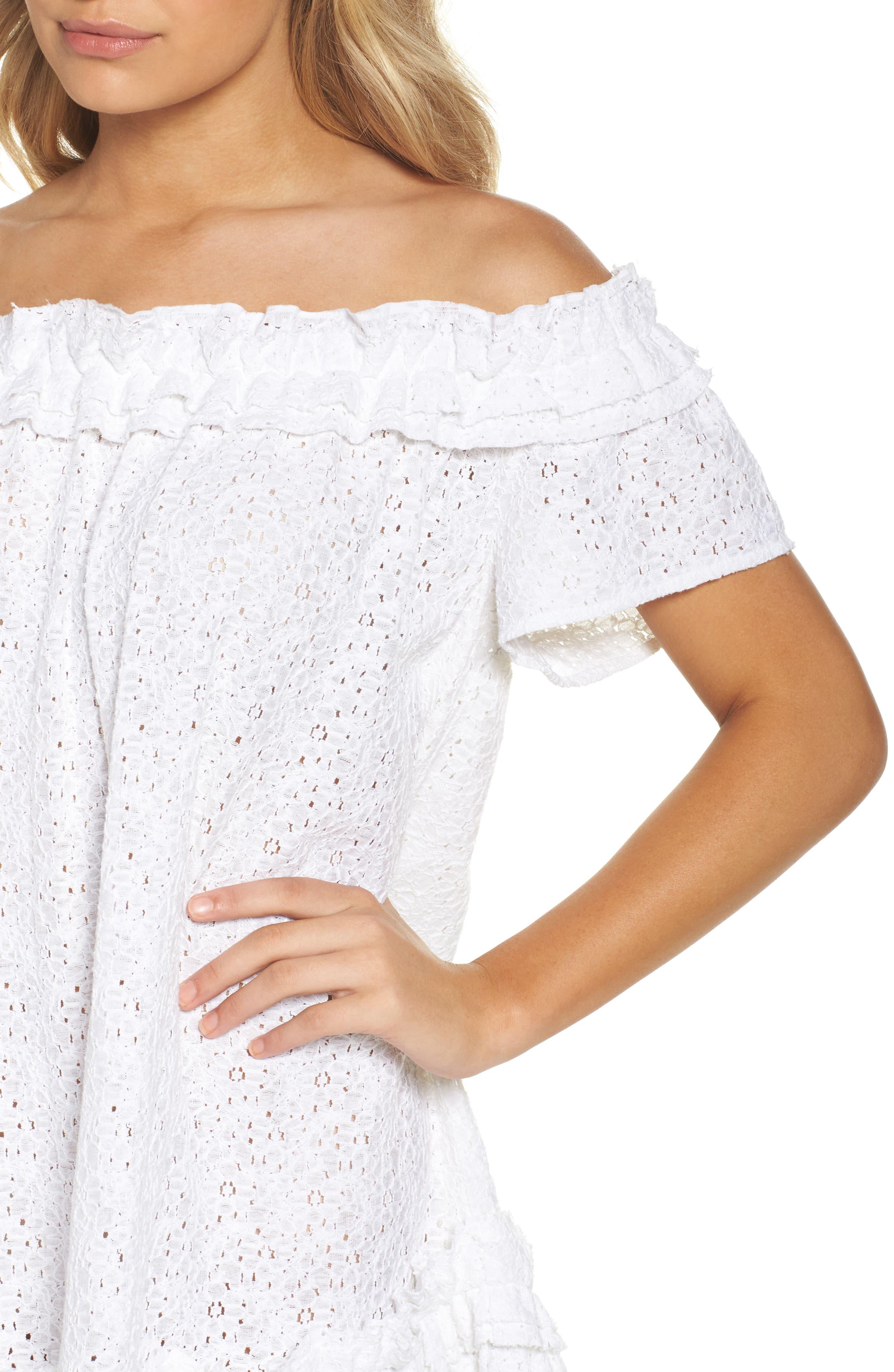 Mojito Cover-Up Dress,                             Alternate thumbnail 4, color,                             White