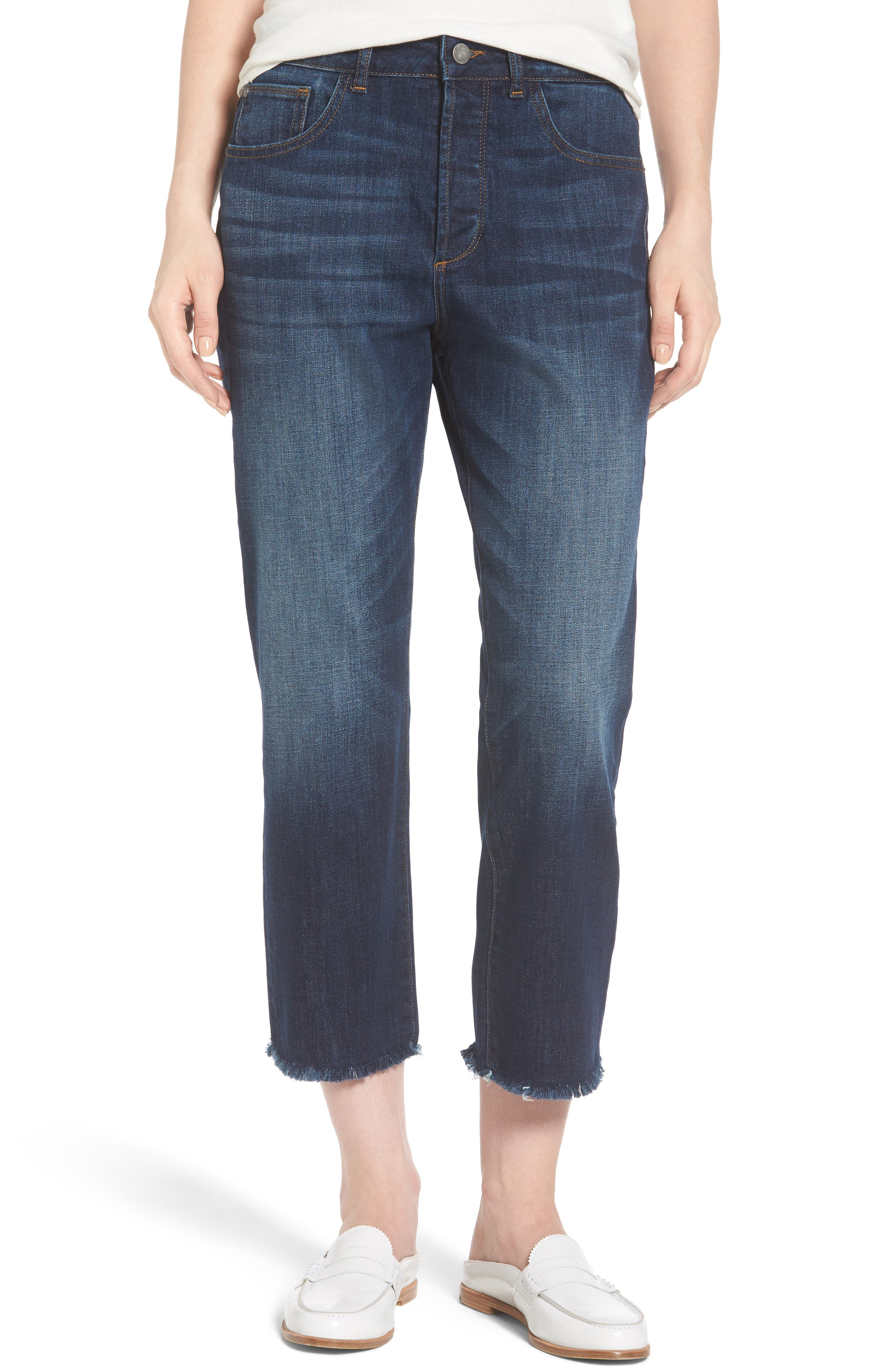 Patti Crop Straight Leg Jeans,                         Main,                         color, Wonderwall