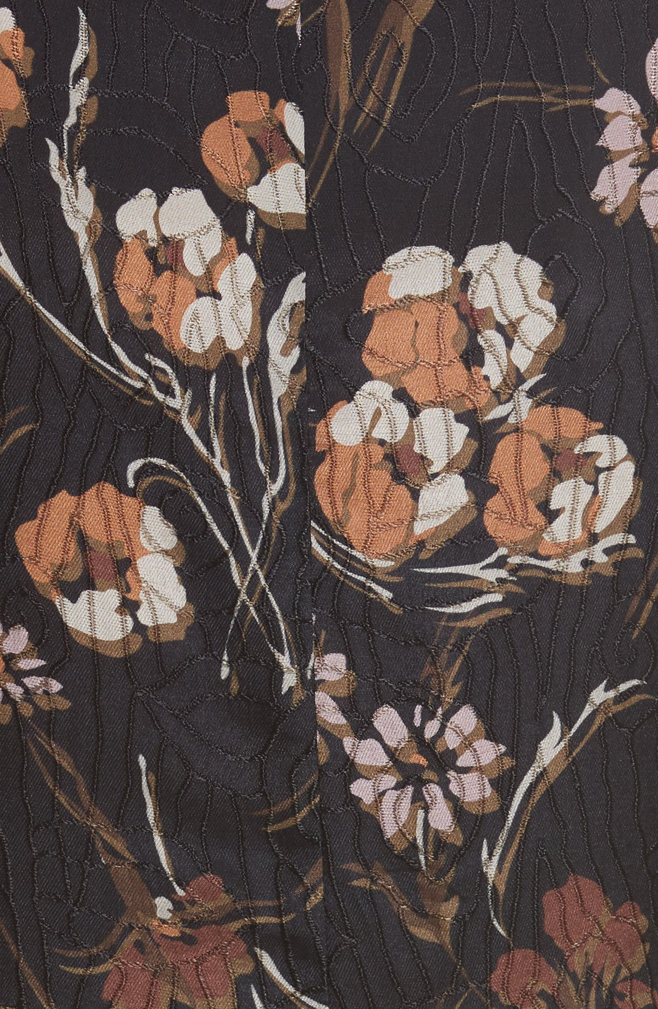 Alternate Image 5  - Derek Lam 10 Crosby Cascade Floral Silk Blend Dress