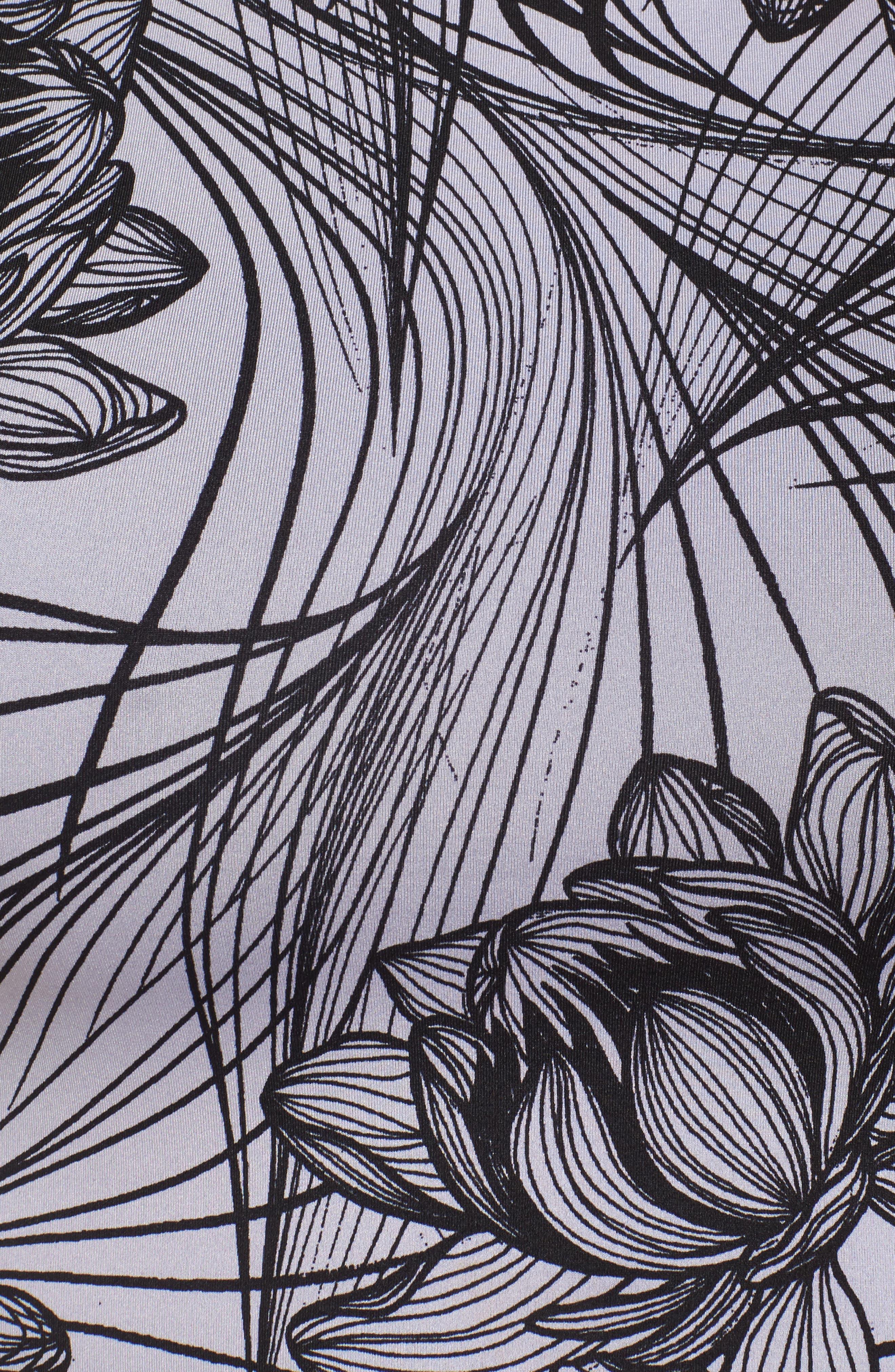Flip It & Reverse It Reversible Bralette,                             Alternate thumbnail 6, color,                             Digital Lotus Print