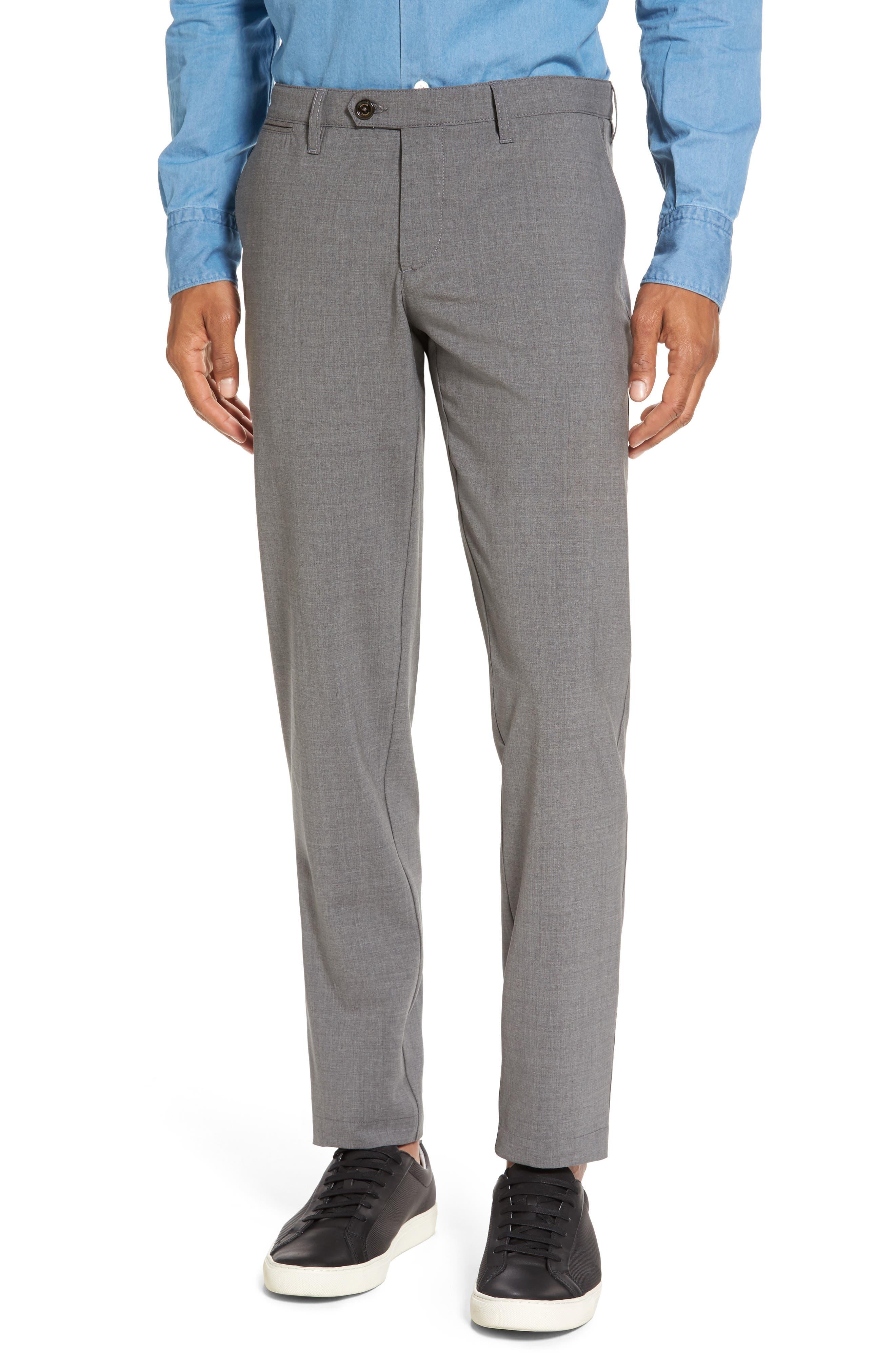Eleventy Flat Front Wool Trousers
