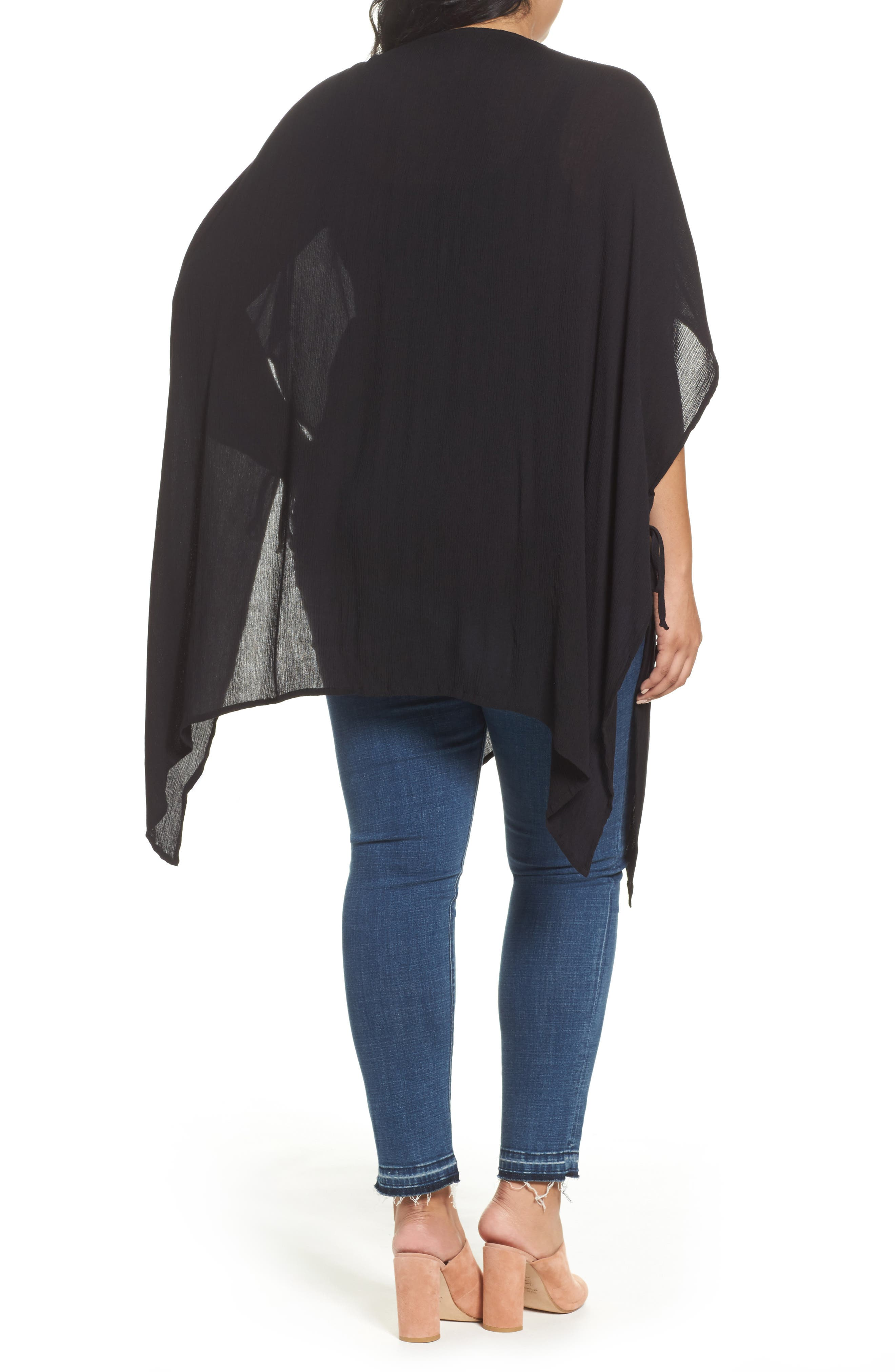 Alternate Image 2  - Bobeau Embroidered Wrap (Plus Size)
