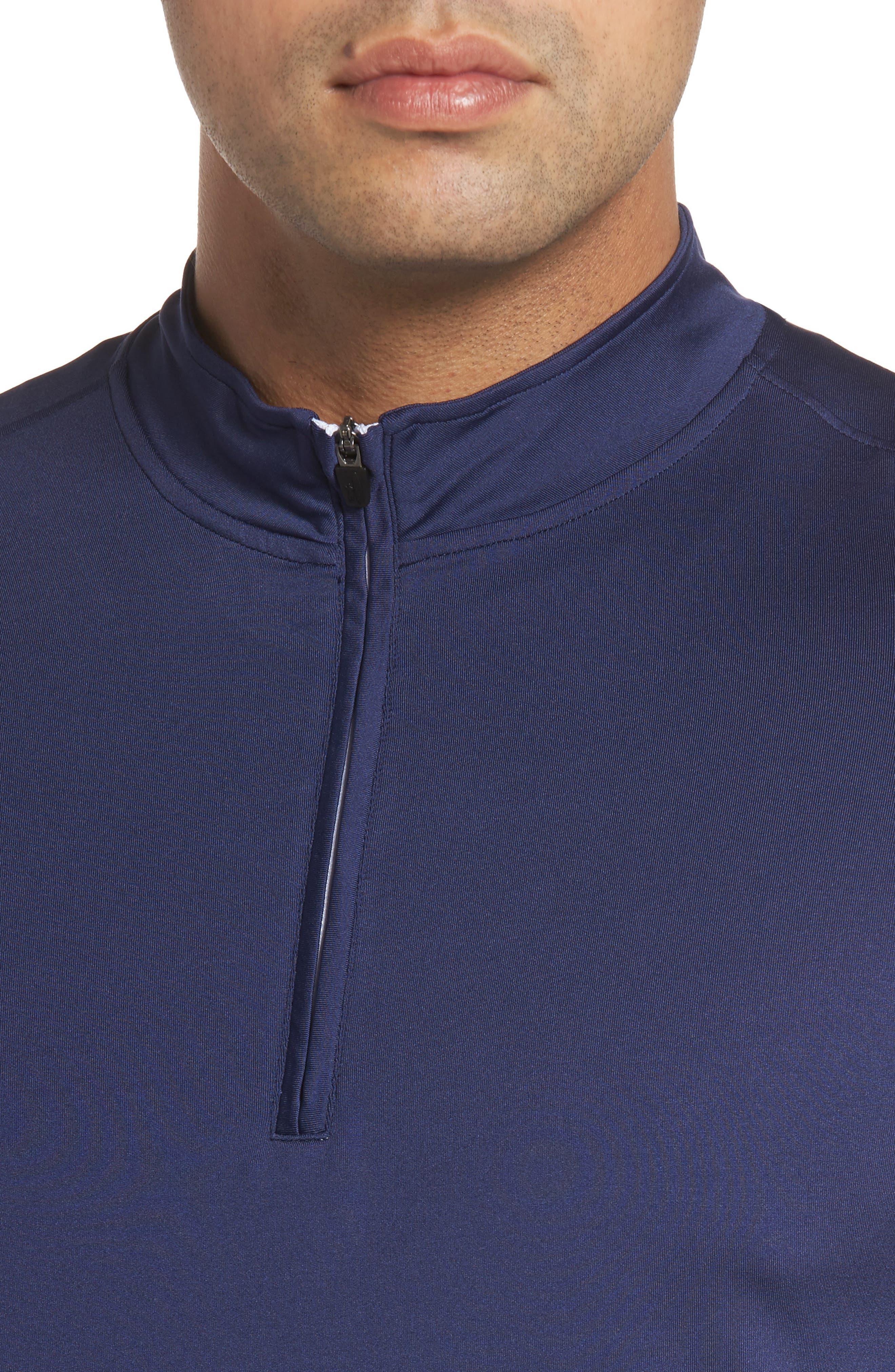 Flex Classic Fit Quarter Zip Pullover,                             Alternate thumbnail 4, color,                             Twilight