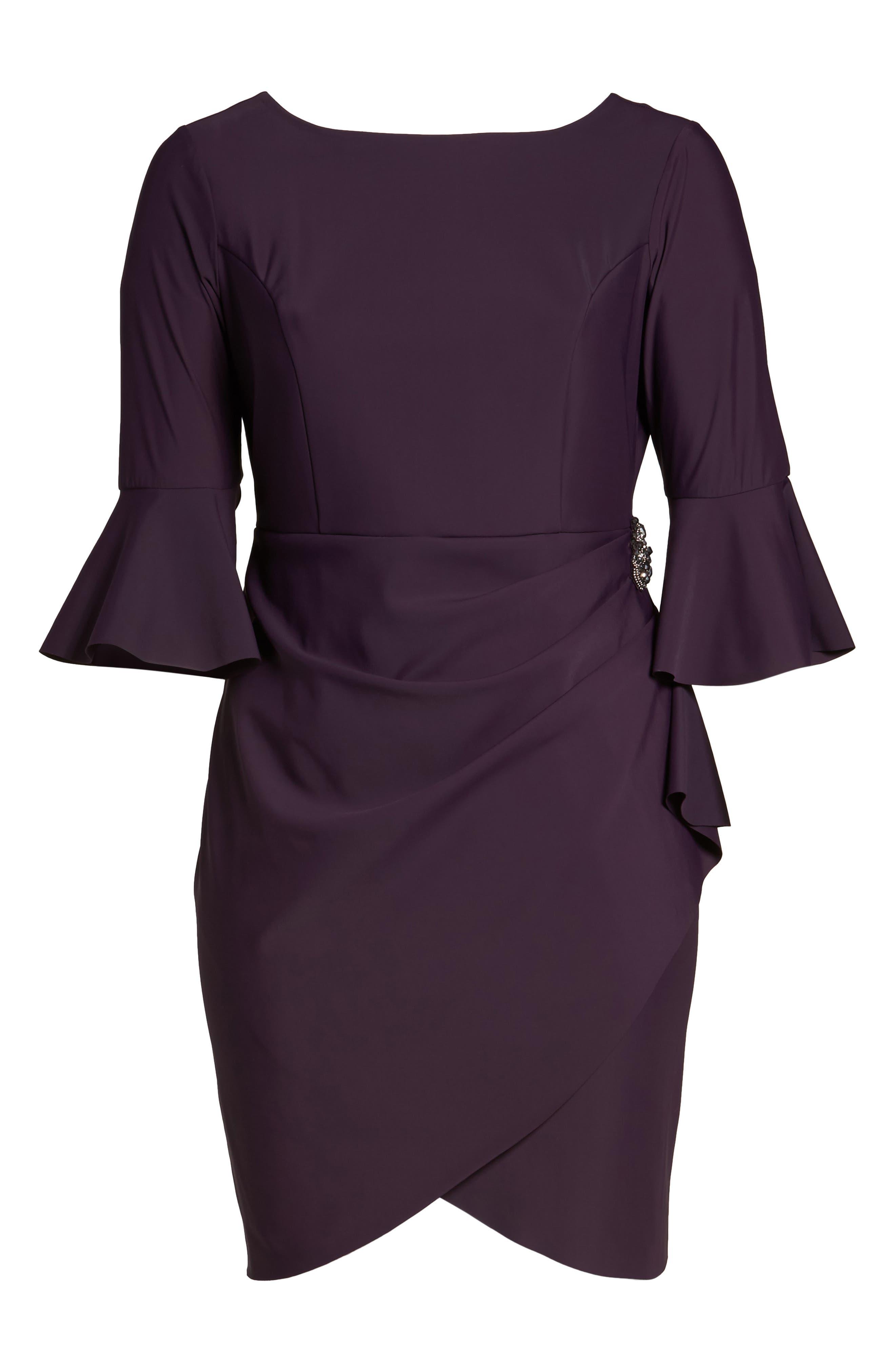 Alternate Image 6  - Alex Evenings Bell Sleeve Sheath Dress (Plus Size)