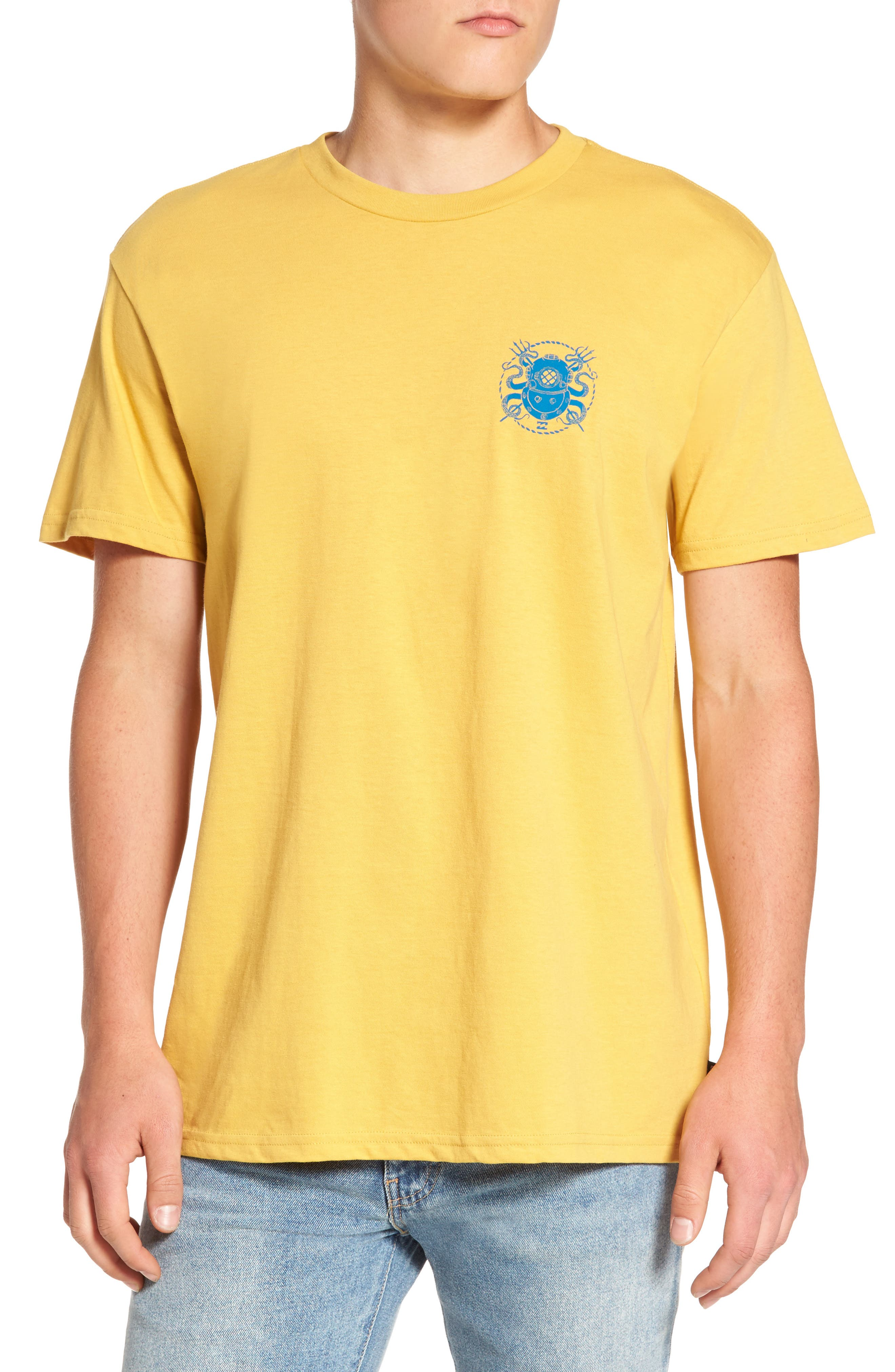 Diver Graphic T-Shirt,                         Main,                         color, Yellow