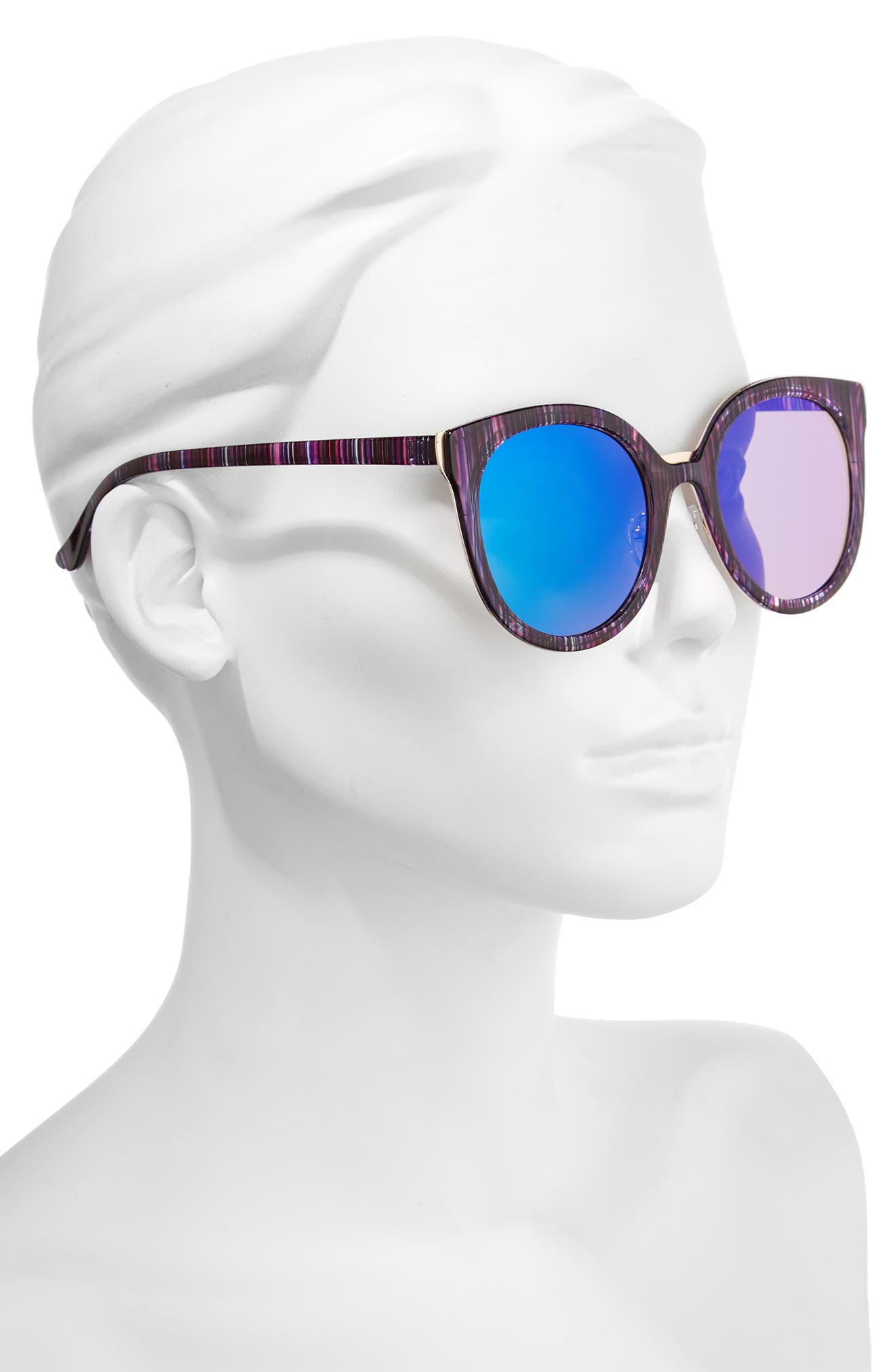 Alternate Image 2  - BP. 60mm Mirror Lens Round Sunglasses