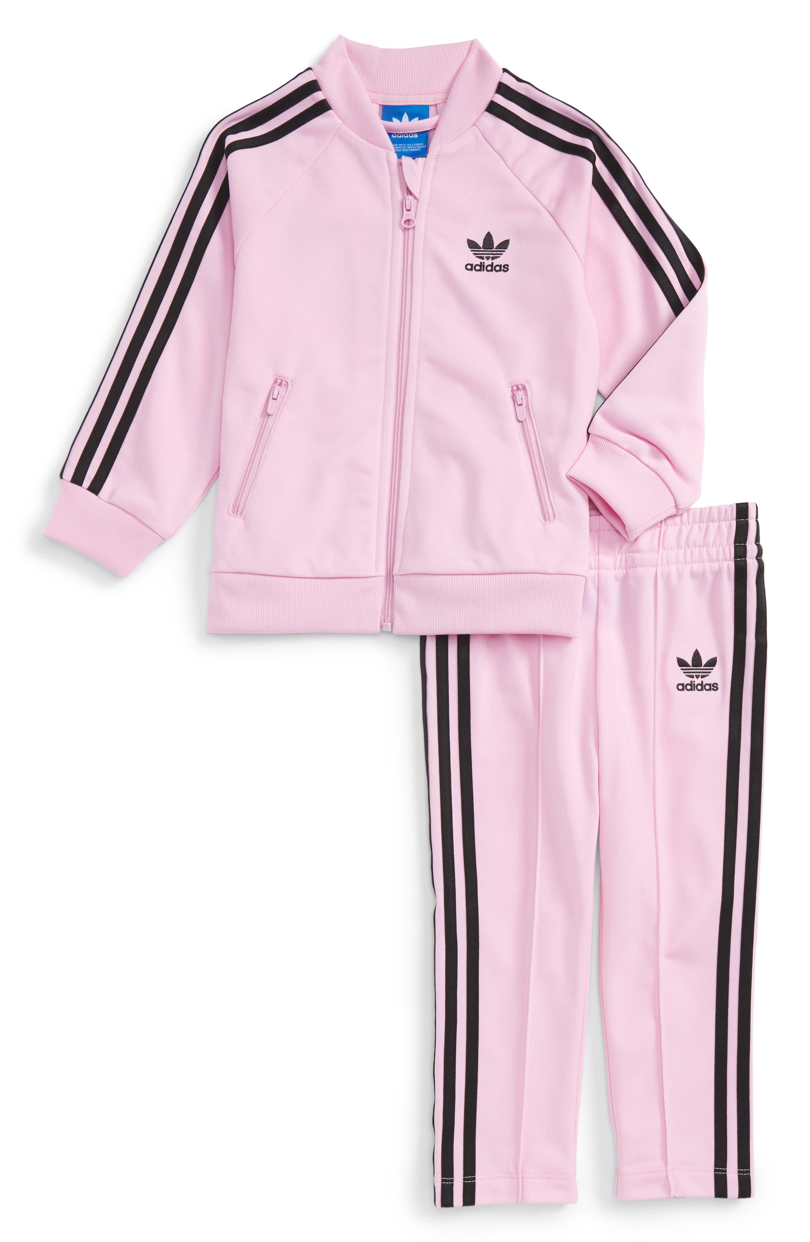 Main Image - adidas Originals Track Jacket & Athletic Pants Set (Baby Girls)