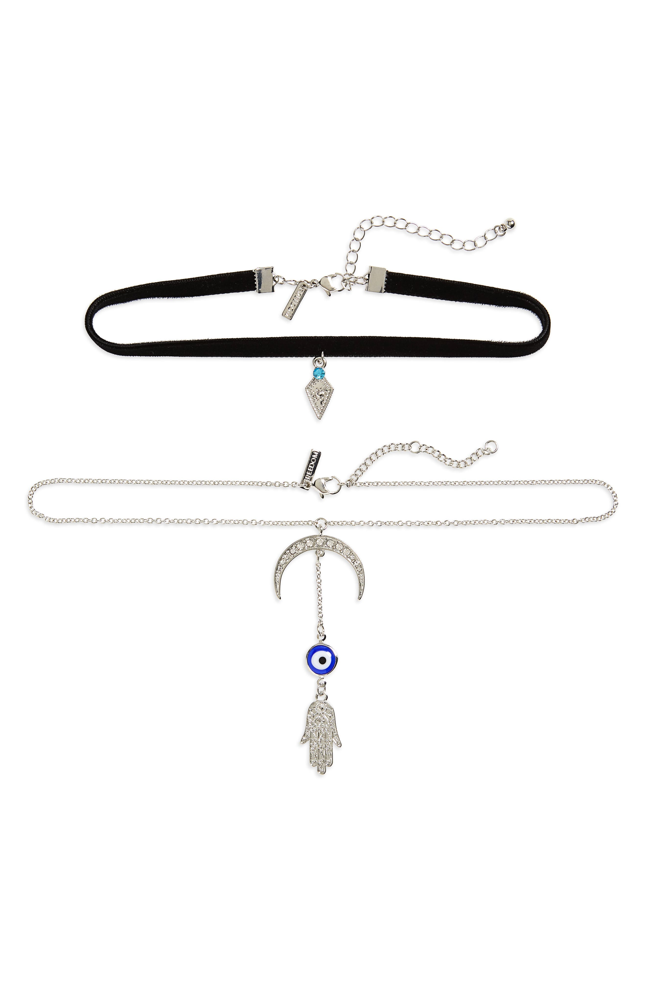 Topshop Set of 2 Fatima Hand Chokers