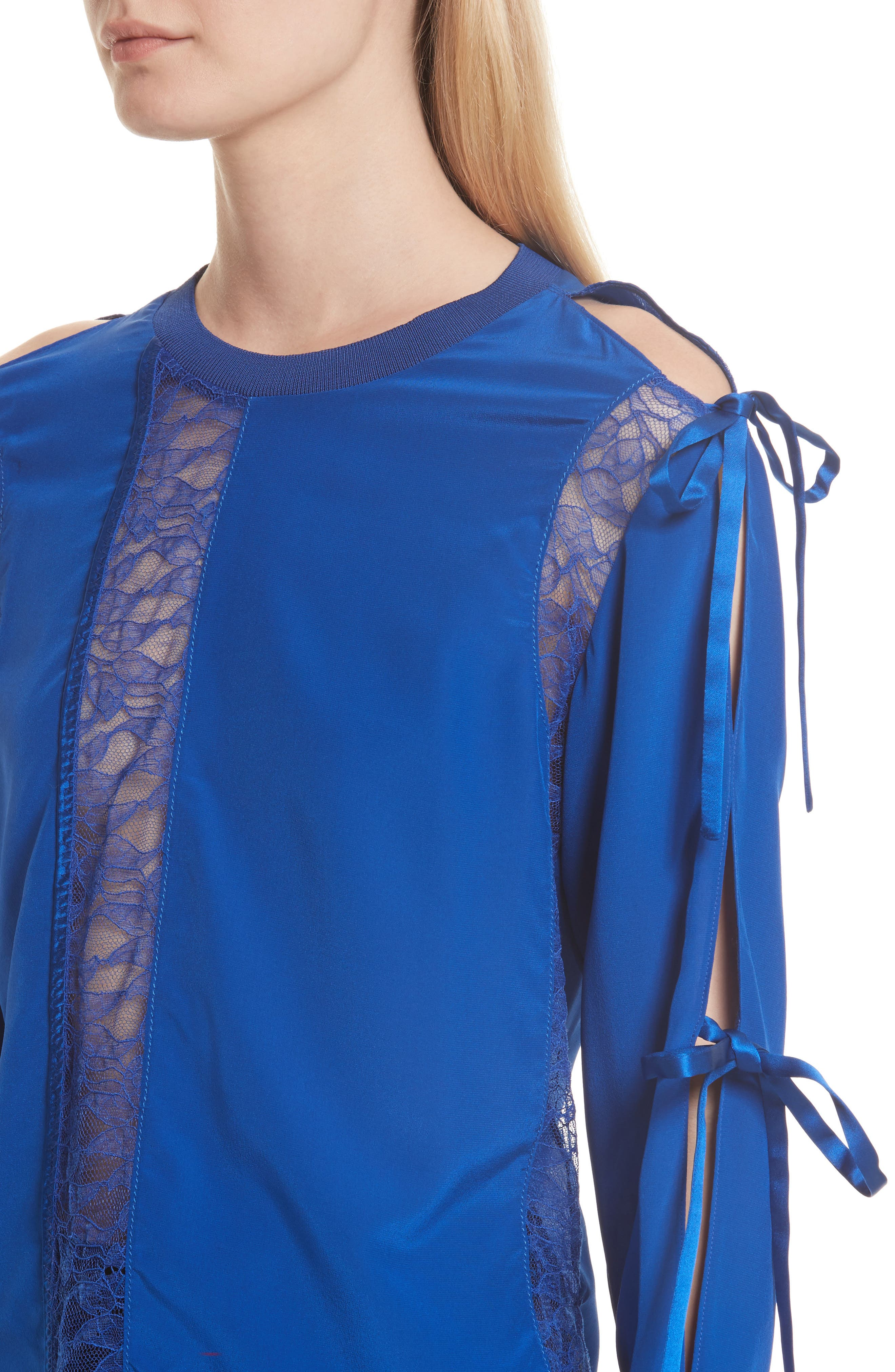 Alternate Image 4  - 3.1 Phillip Lim Silk Tied Cold Shoulder Top