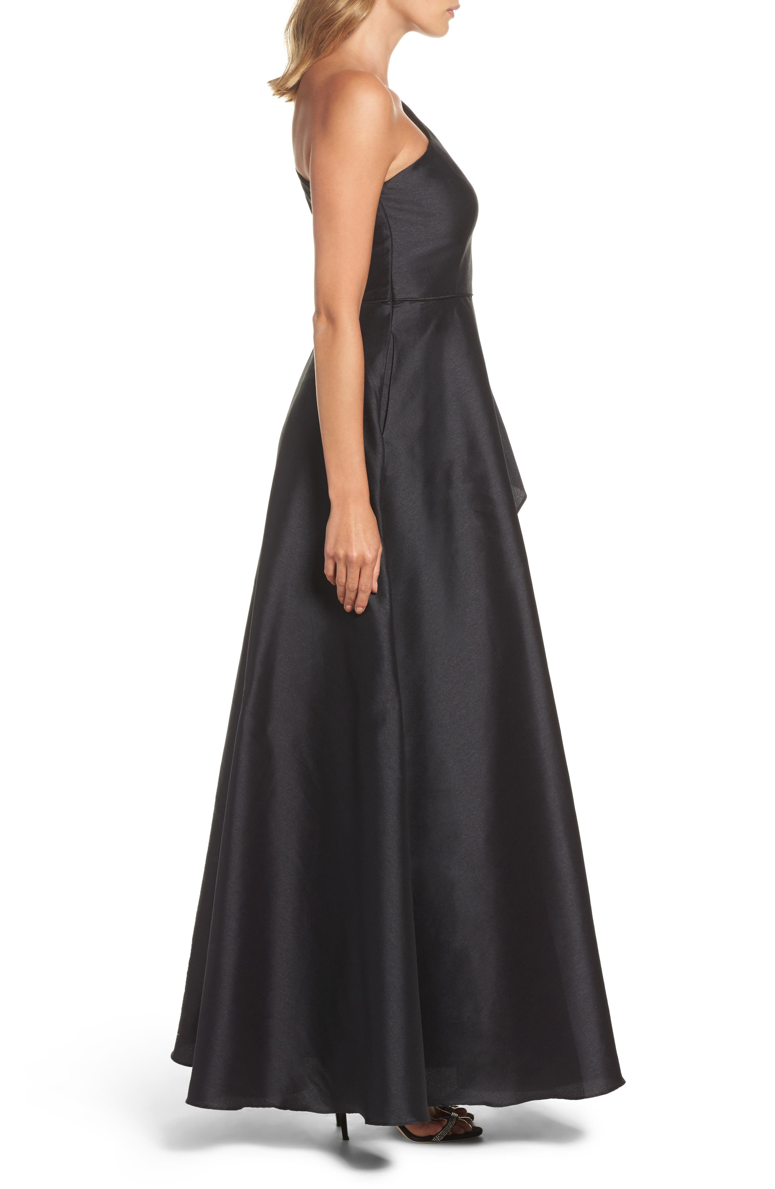 Alternate Image 3  - Adrianna Papell Embellished One-Shoulder Drape Faille Gown